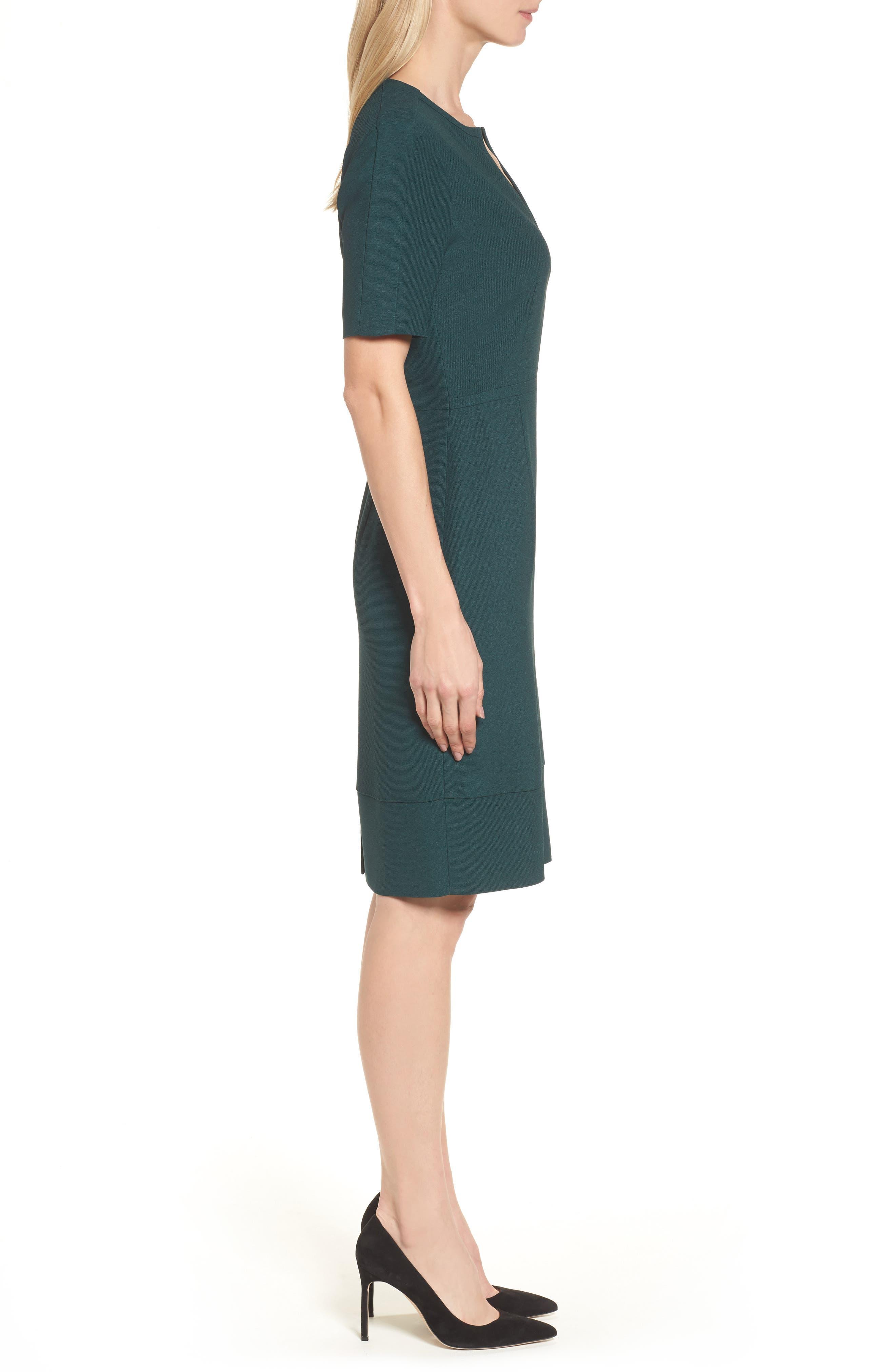 Dalesana Sheath Dress,                             Alternate thumbnail 3, color,                             Peacock Green