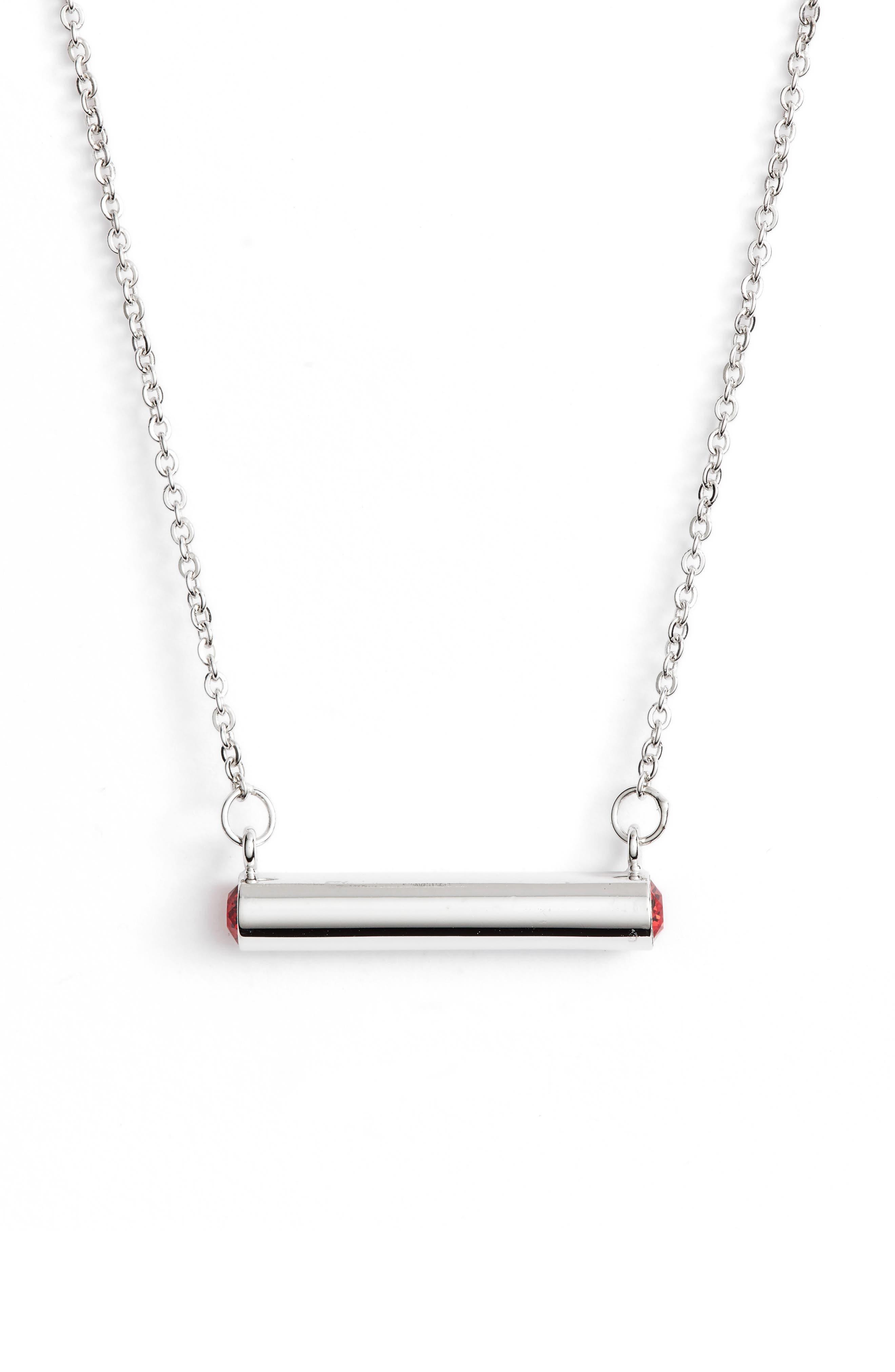 Stella Valle July Crystal Bar Pendant Necklace