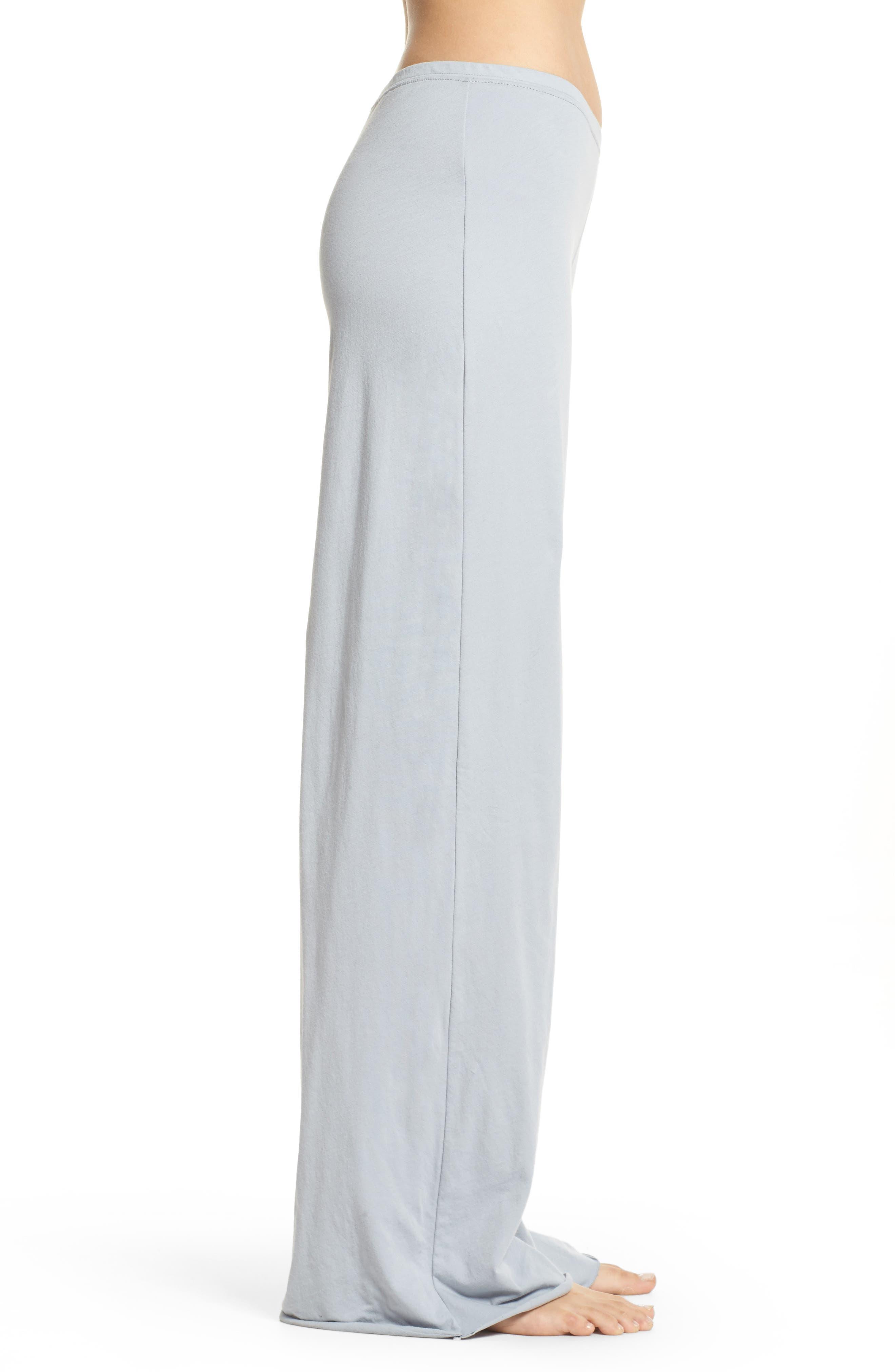 Alternate Image 3  - skin Pima Cotton Lounge Pants