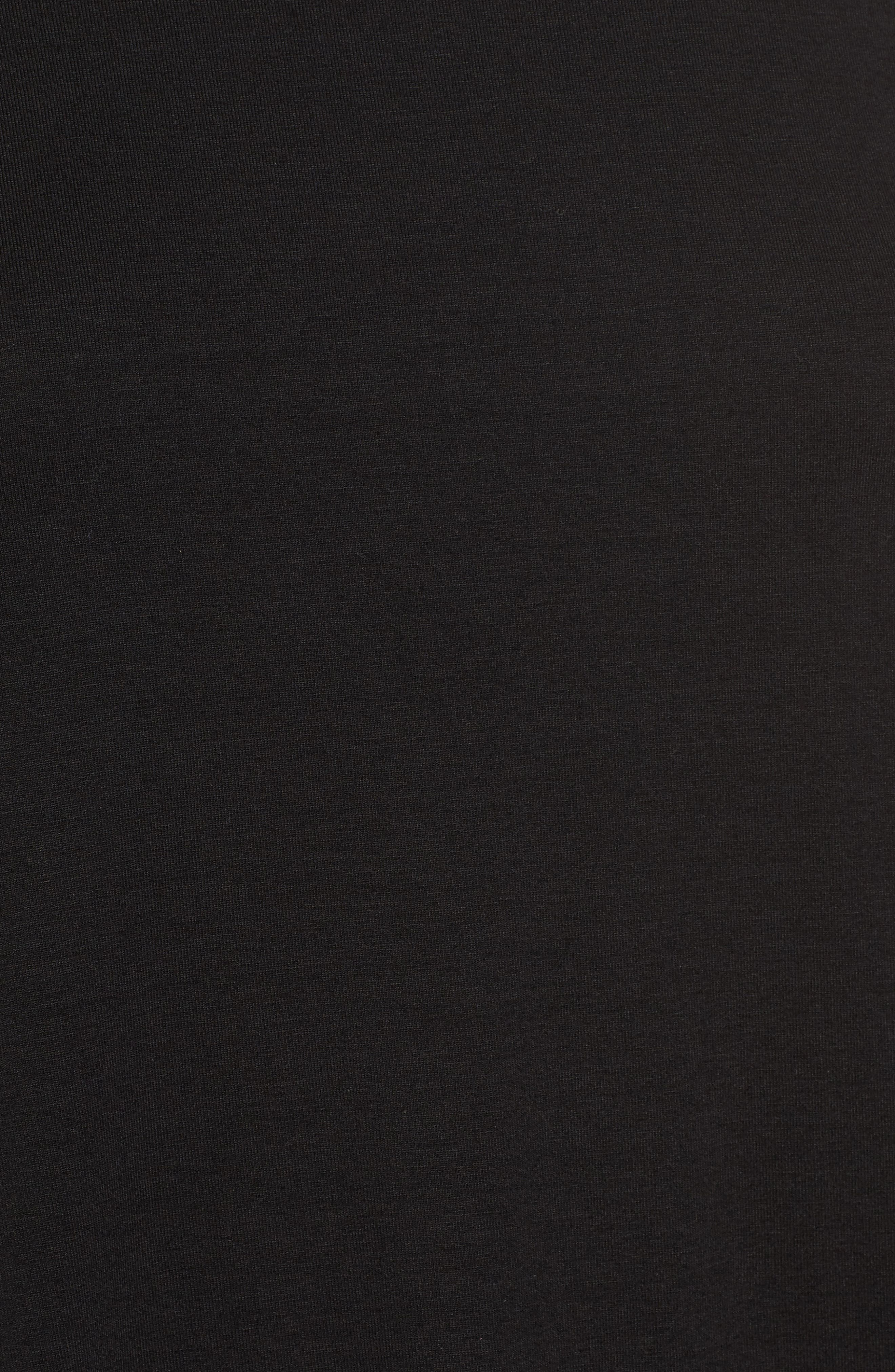 Ballet Neck Jersey Top,                             Alternate thumbnail 5, color,                             Black