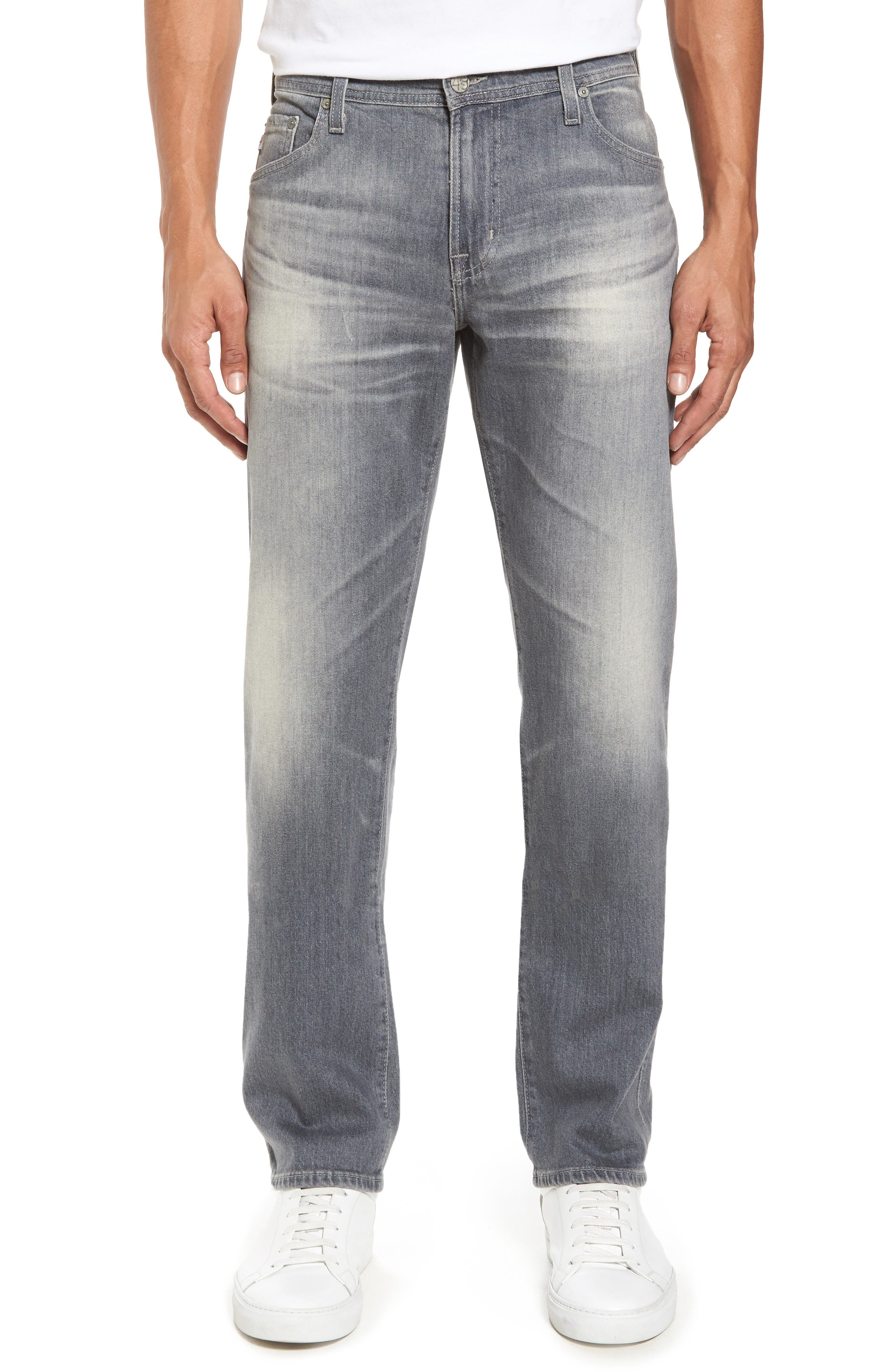 Alternate Image 1 Selected - AG Graduate Slim Straight Fit Jeans (13 Years Fortress)