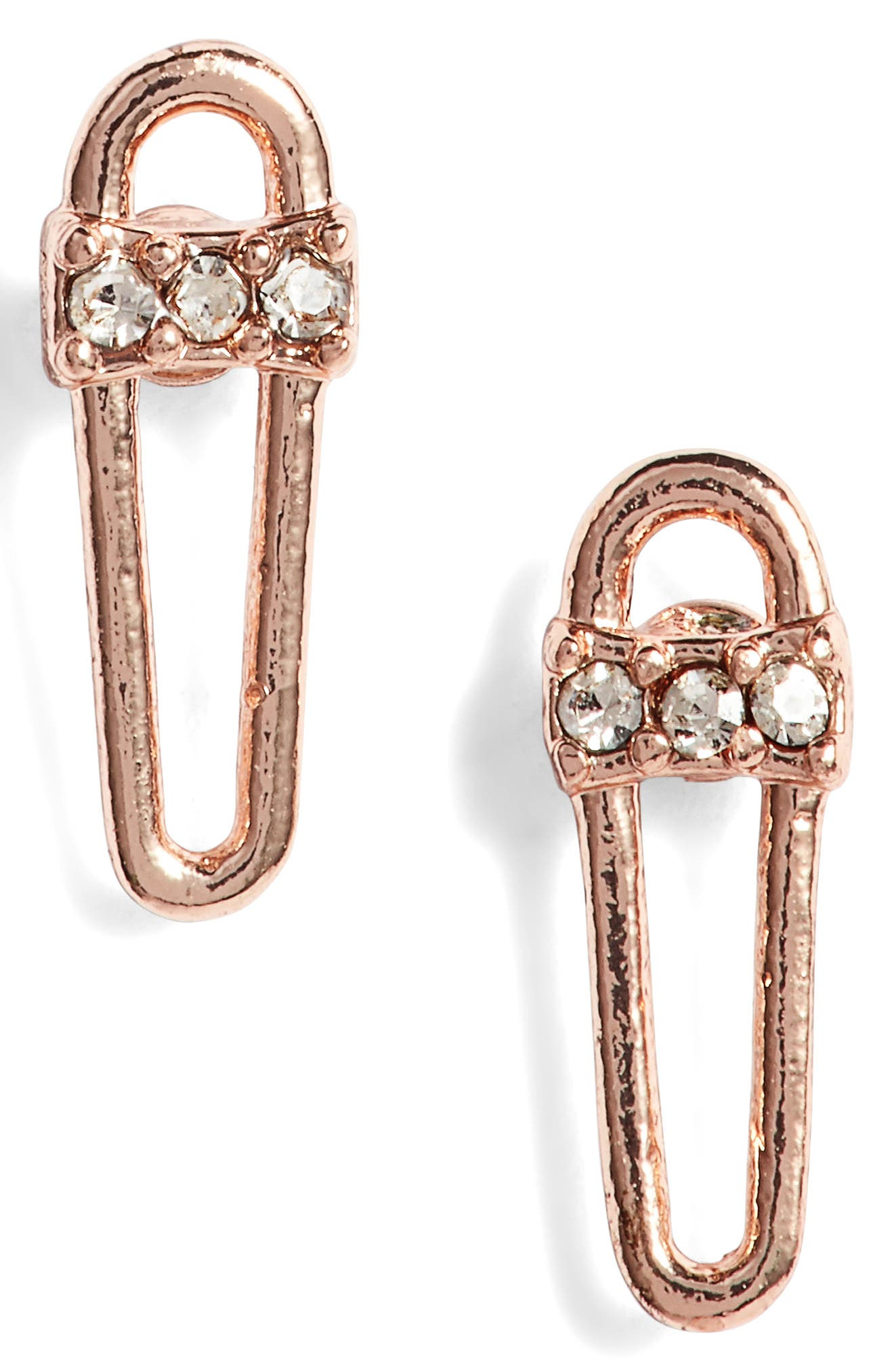 Rebecca Minkoff Mini Safety Pin Earrings