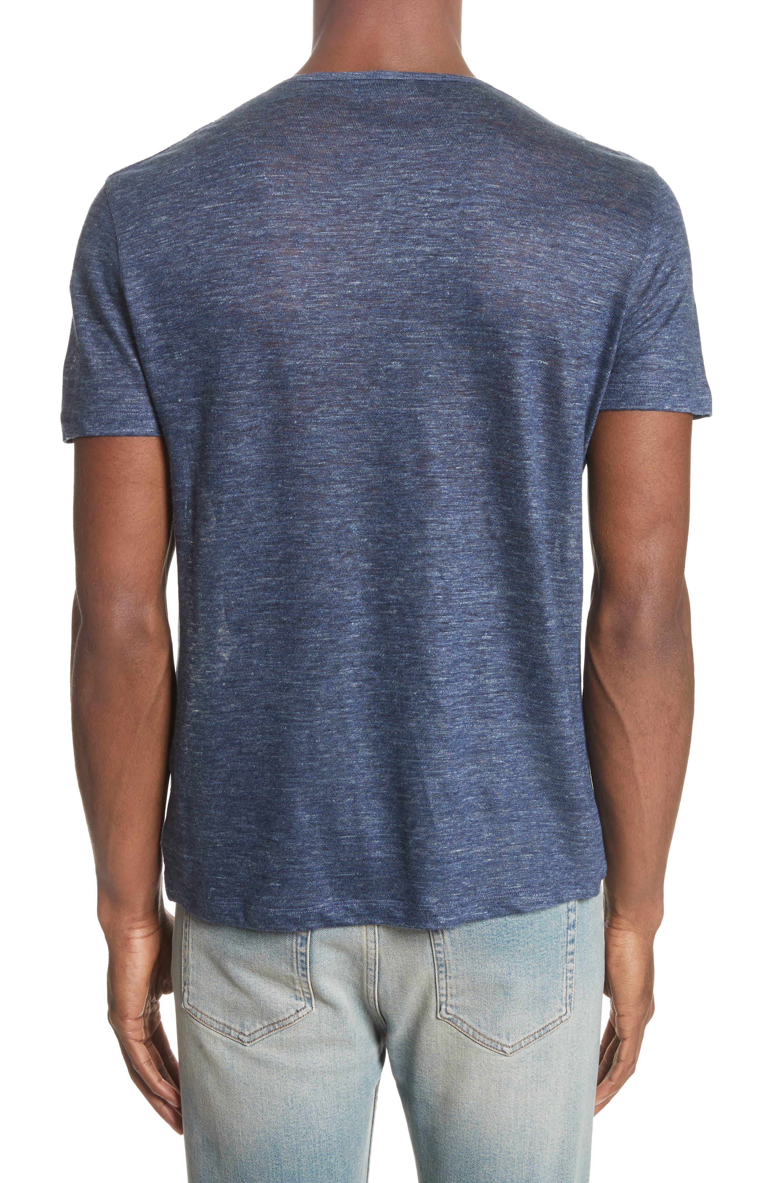 Alternate Image 2  - John Varvatos Collection Linen T-Shirt