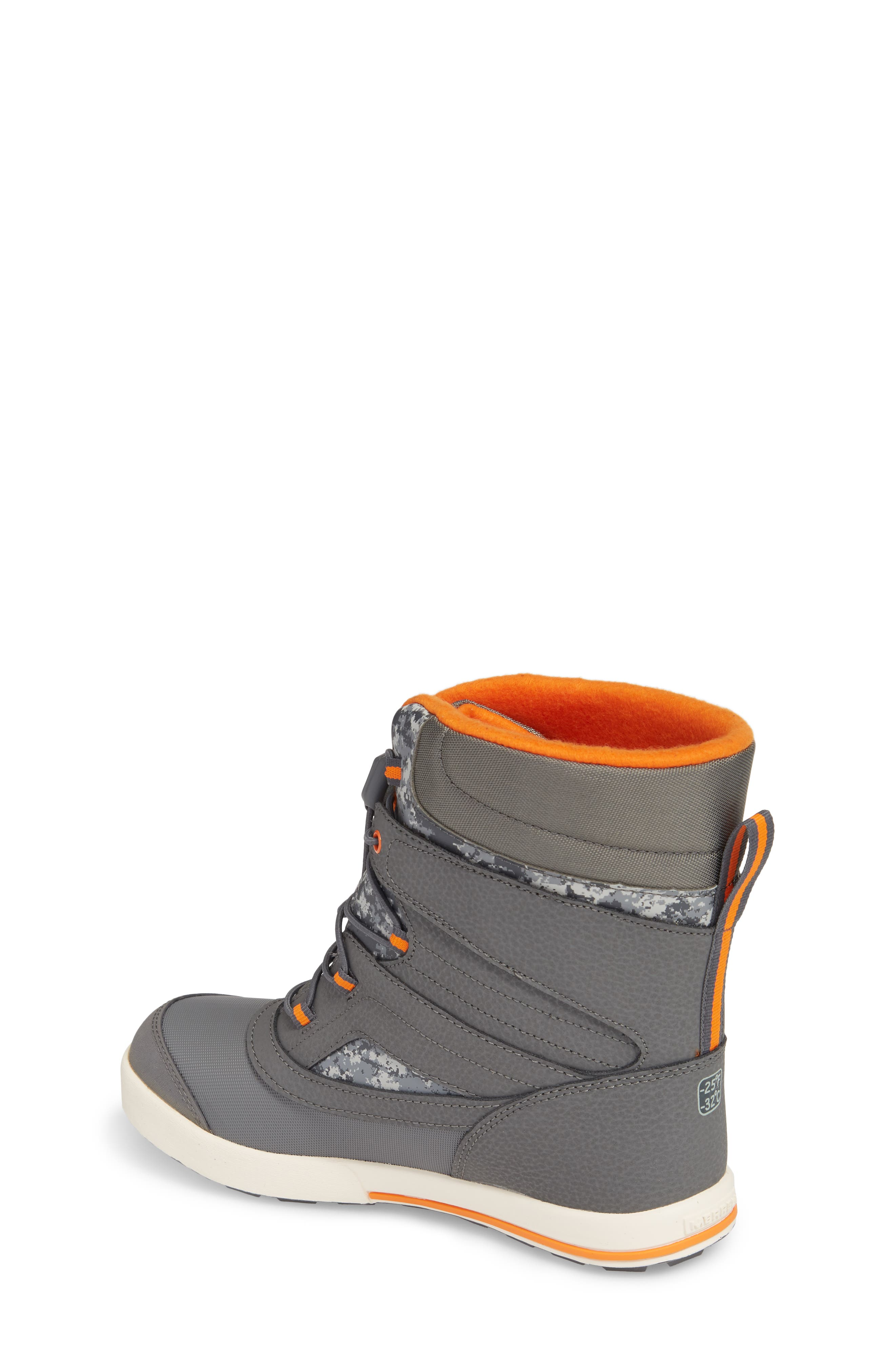 Snow Bank 2 Insulated Waterproof Boot,                             Alternate thumbnail 2, color,                             Grey/ Orange