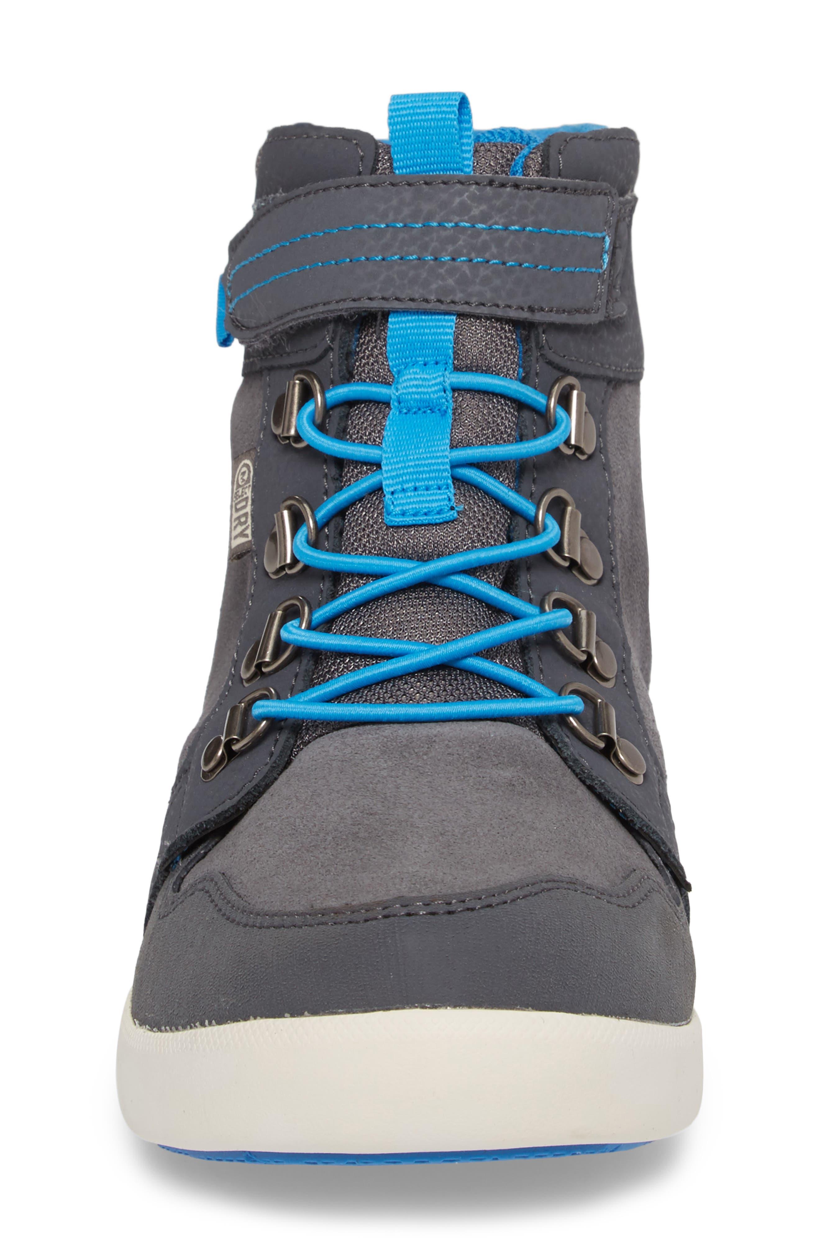 Freewheel Mid Top Waterproof Sneaker Boot,                             Alternate thumbnail 4, color,                             Grey