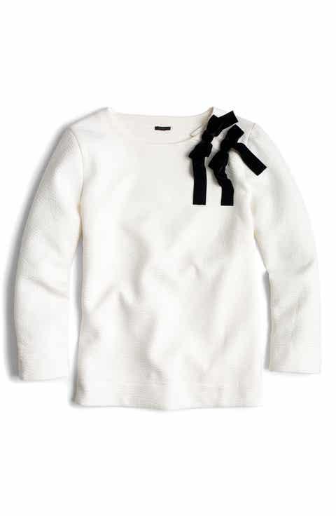 J.Crew Double Bow Sweatshirt