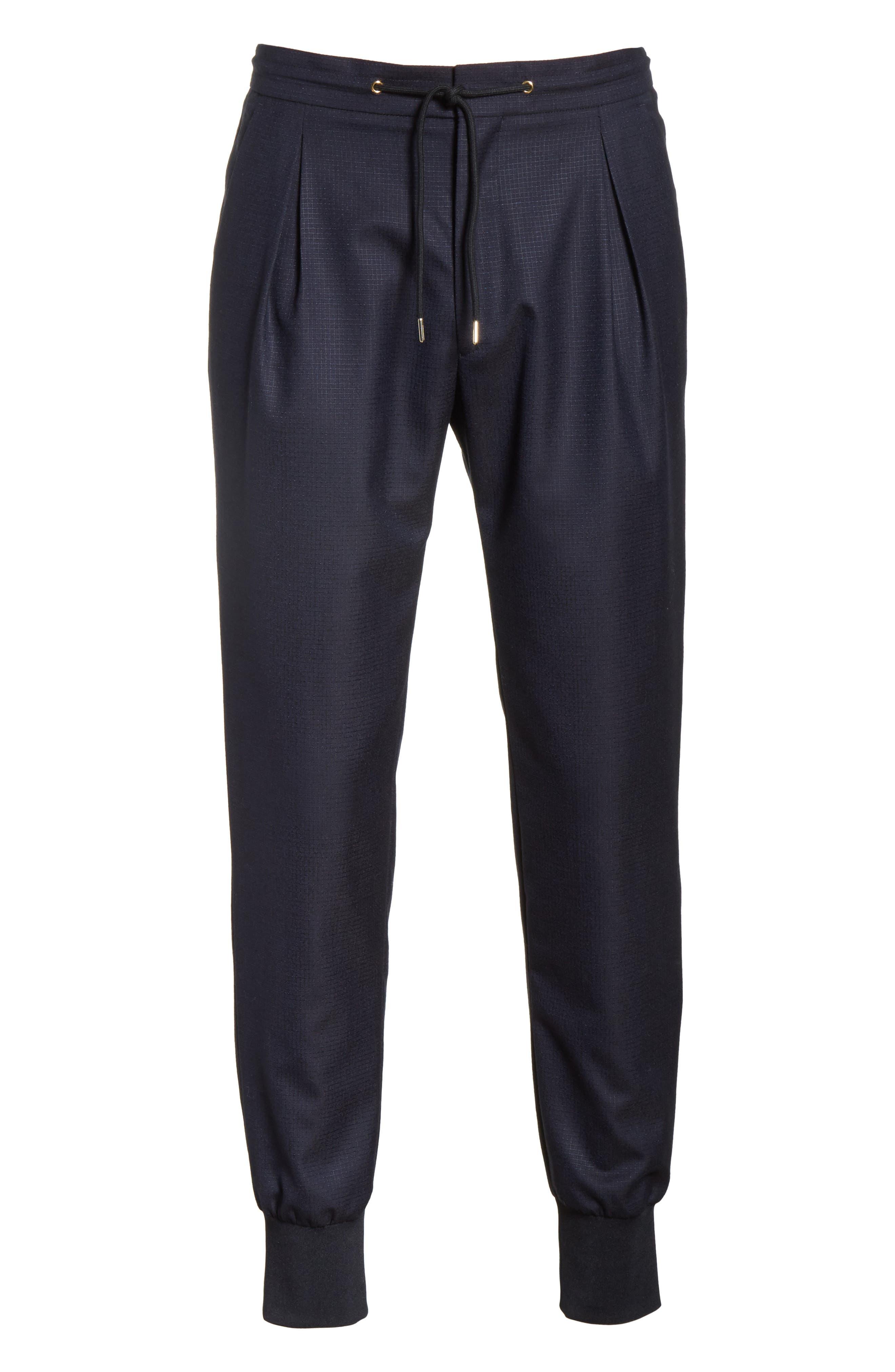 Wool & Silk Jogger Pants,                             Alternate thumbnail 6, color,                             48 Blue