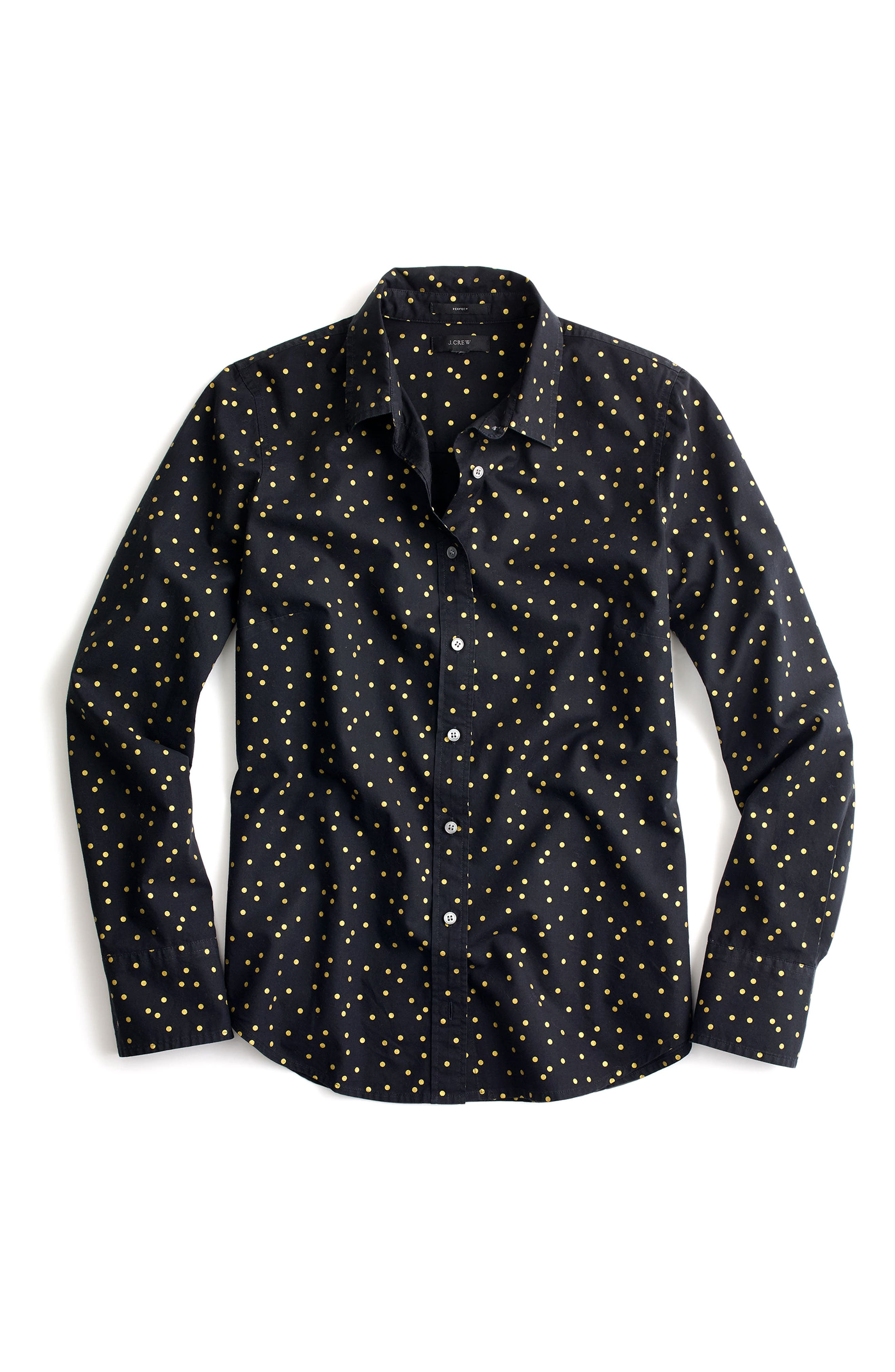 Alternate Image 3  - J.Crew Heather Flannel Foil Dot Perfect Shirt