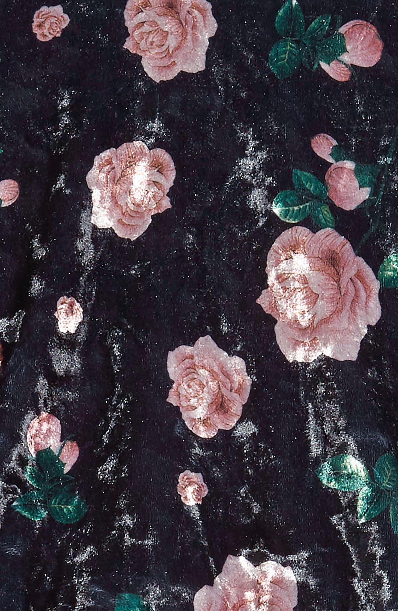 Tutu Dress & Sweater Set,                             Alternate thumbnail 4, color,                             Black Multi