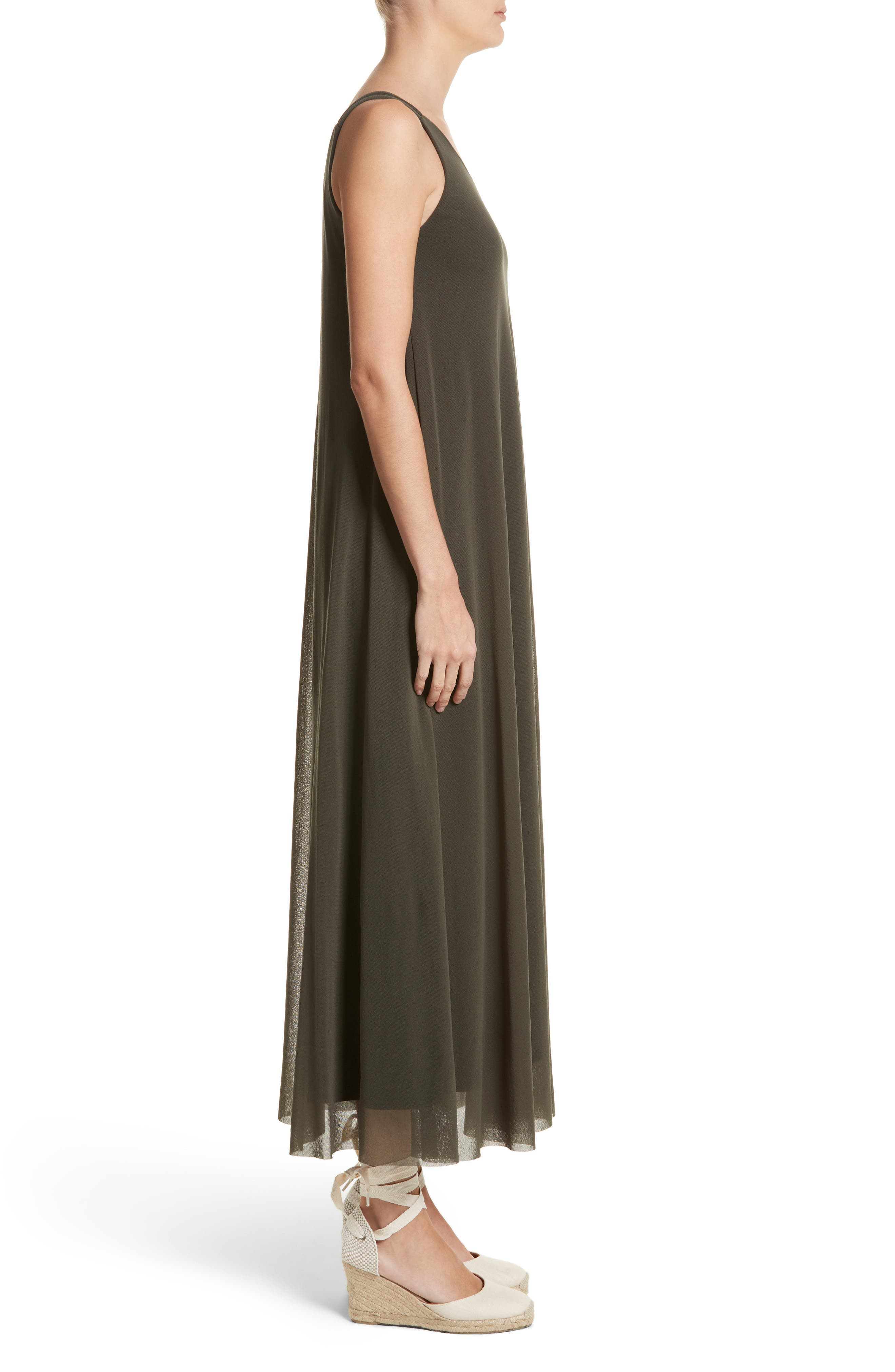 Tulle Strappy Maxi Dress,                             Alternate thumbnail 3, color,                             Dandy
