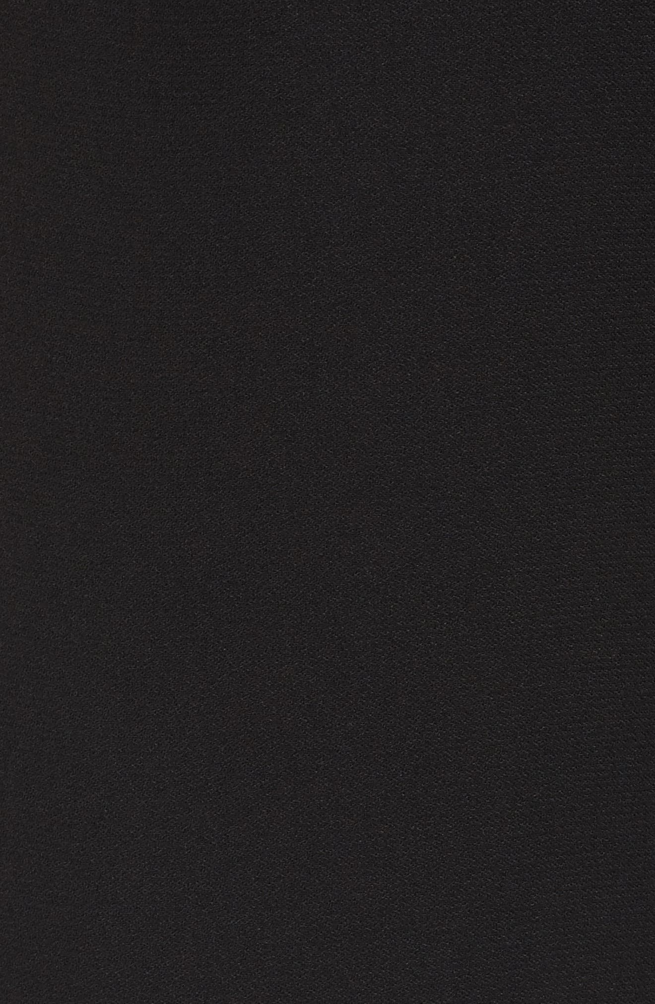 Tie Front Jumpsuit,                             Alternate thumbnail 5, color,                             Black