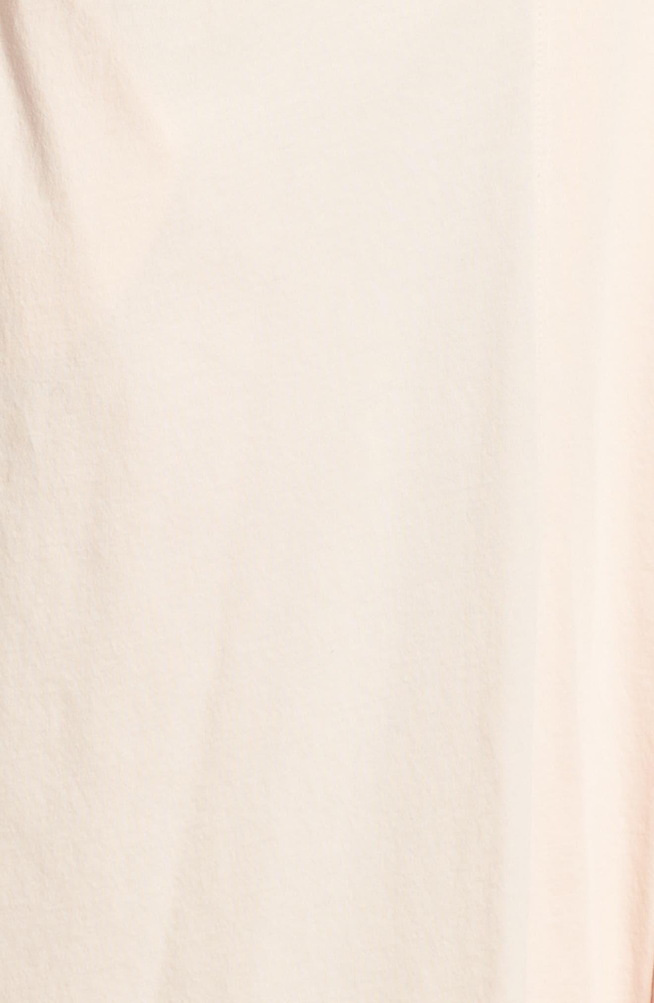 Pima Cotton Robe,                             Alternate thumbnail 5, color,                             Powder Pink