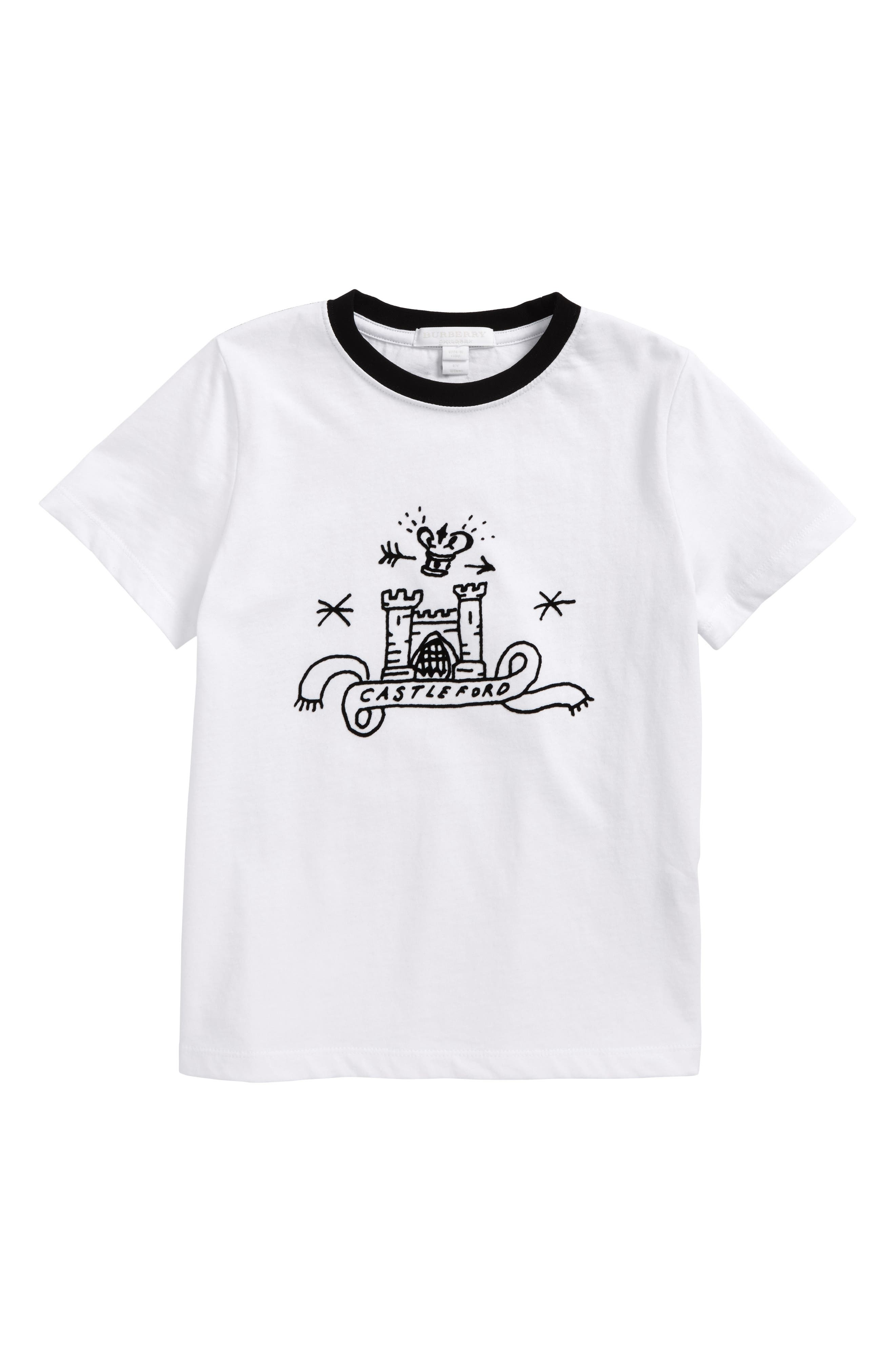 Alternate Image 1 Selected - Burberry Castleford Graphic T-Shirt (Little Boys & Big Boys)