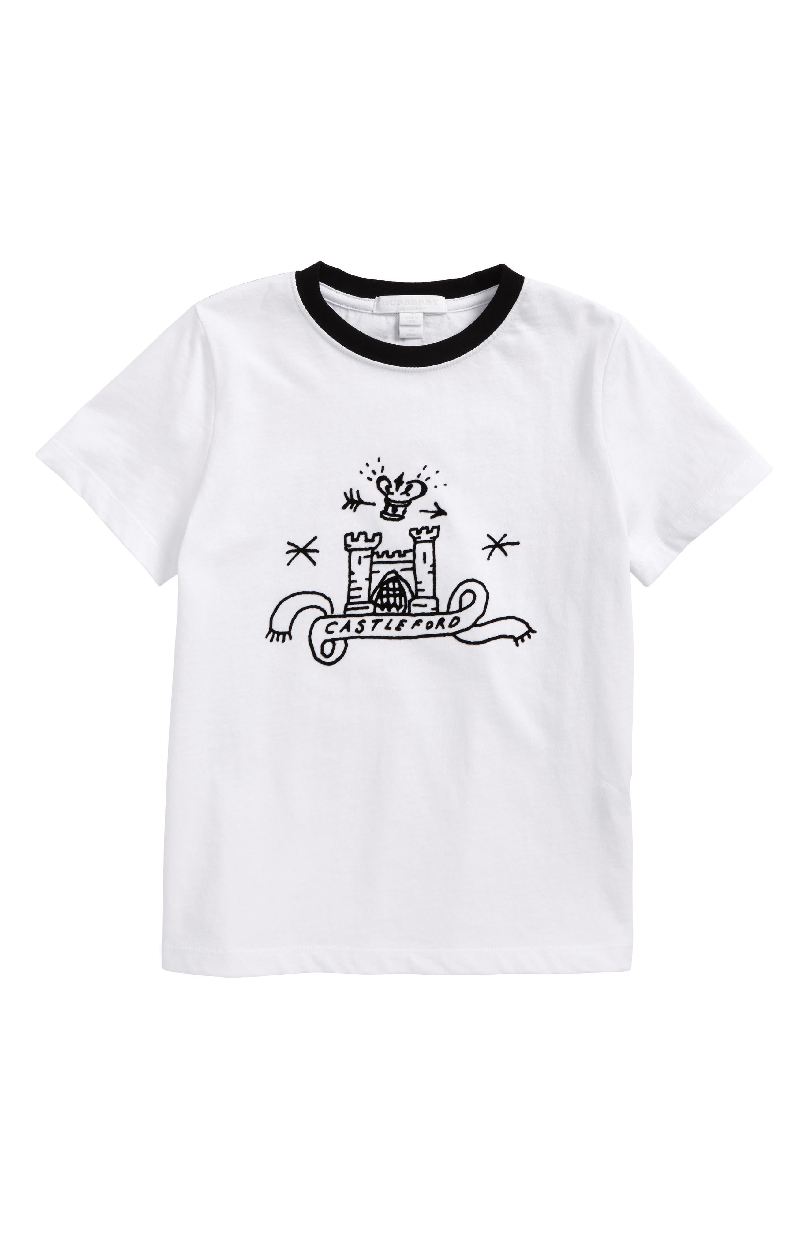 Castleford Graphic T-Shirt,                         Main,                         color, White