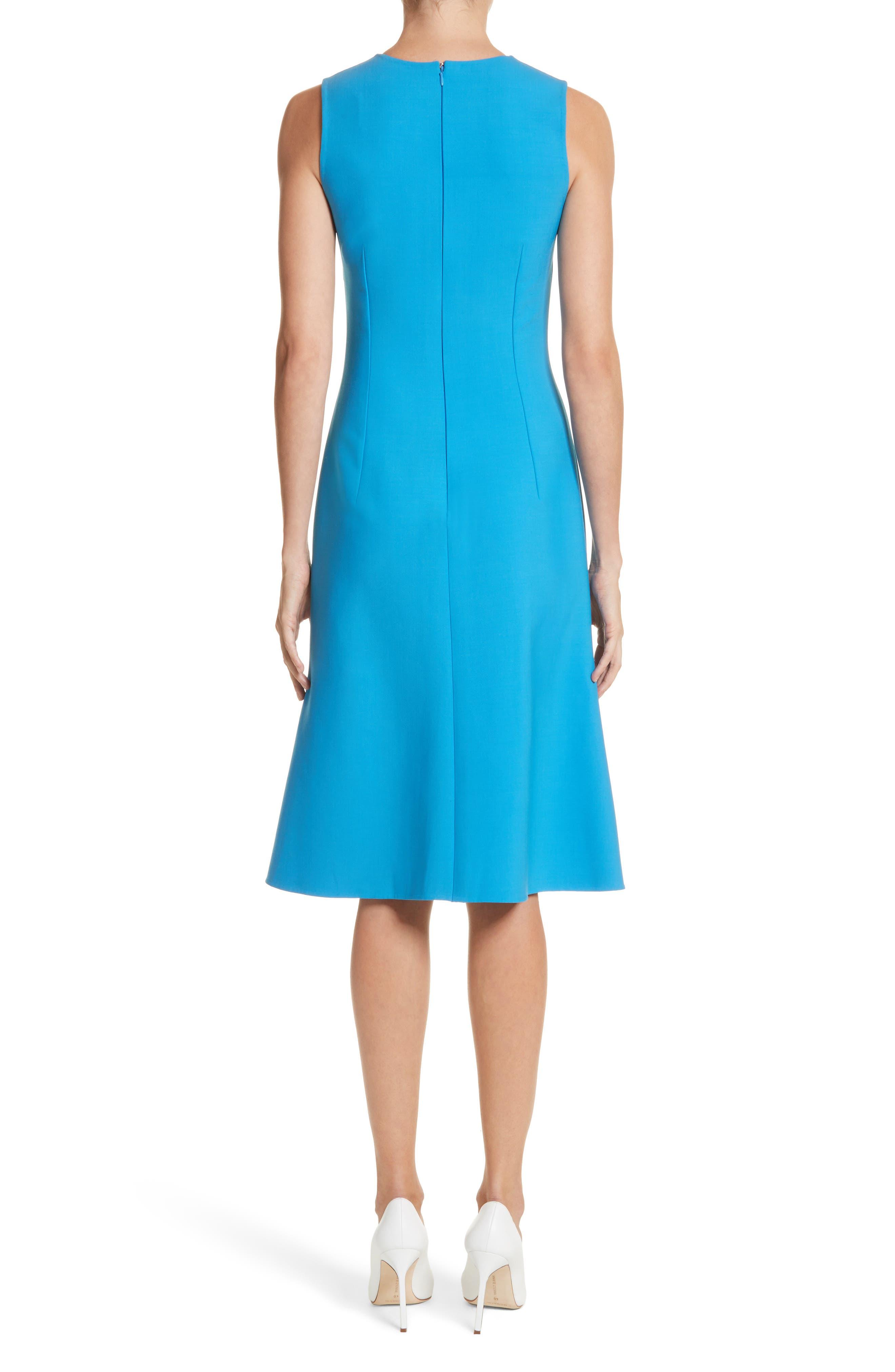 Vertical Stripe Dress,                             Alternate thumbnail 2, color,                             Cerulean/ Lotus Pink