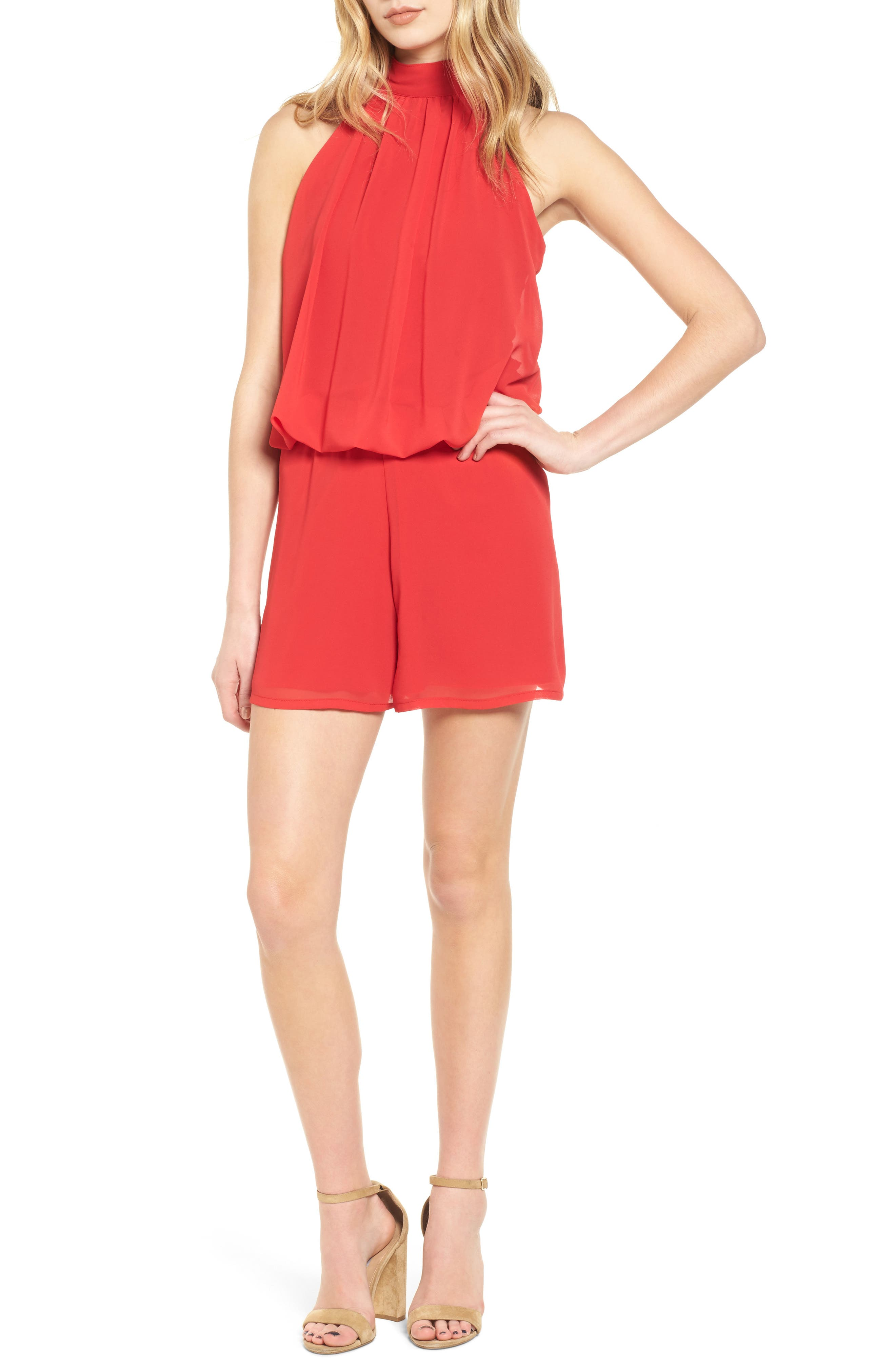 Sentimental NY Bow Back Blouson Romper