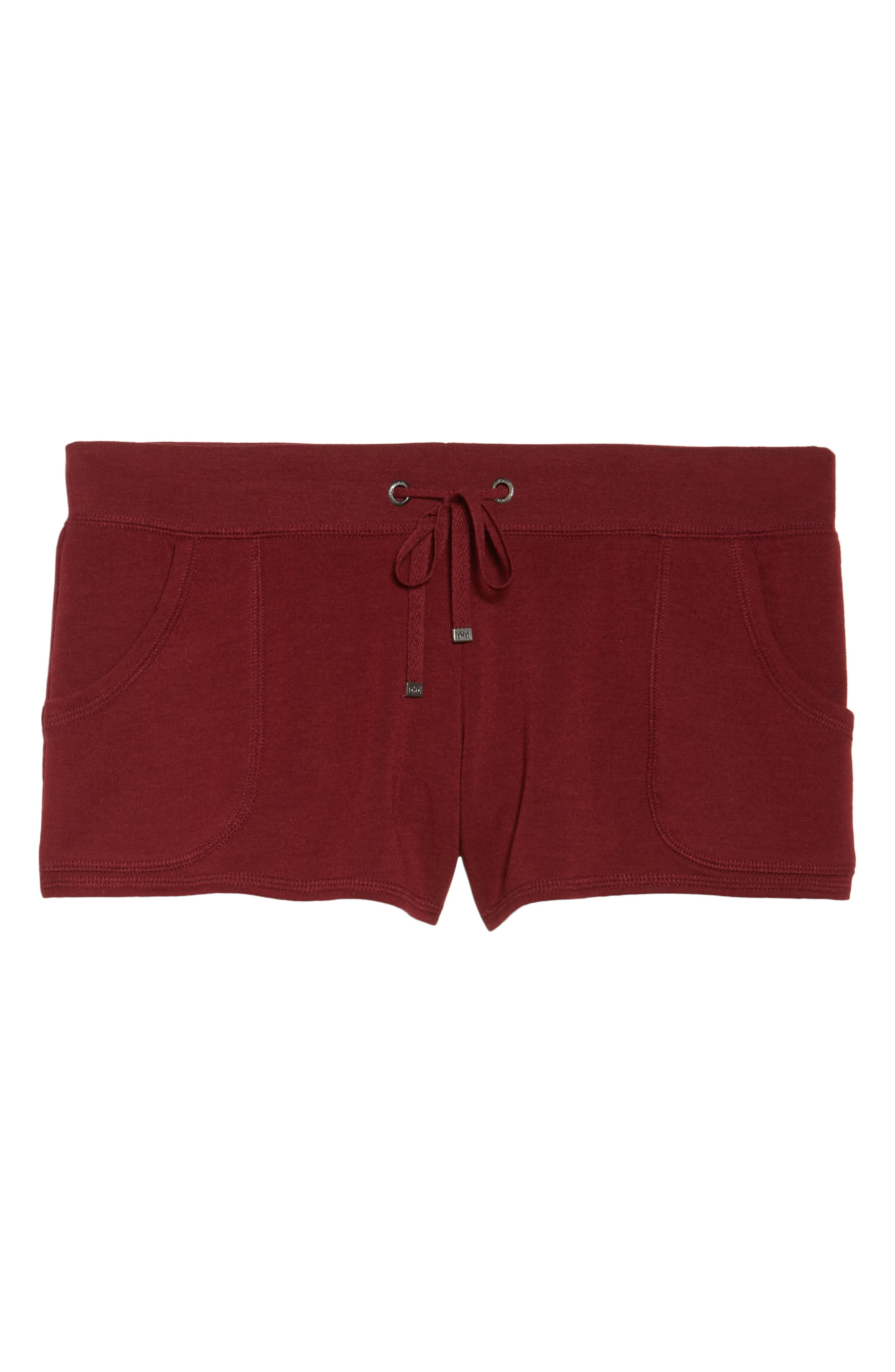 Down To The Details Lounge Shorts,                             Alternate thumbnail 4, color,                             Red Grape