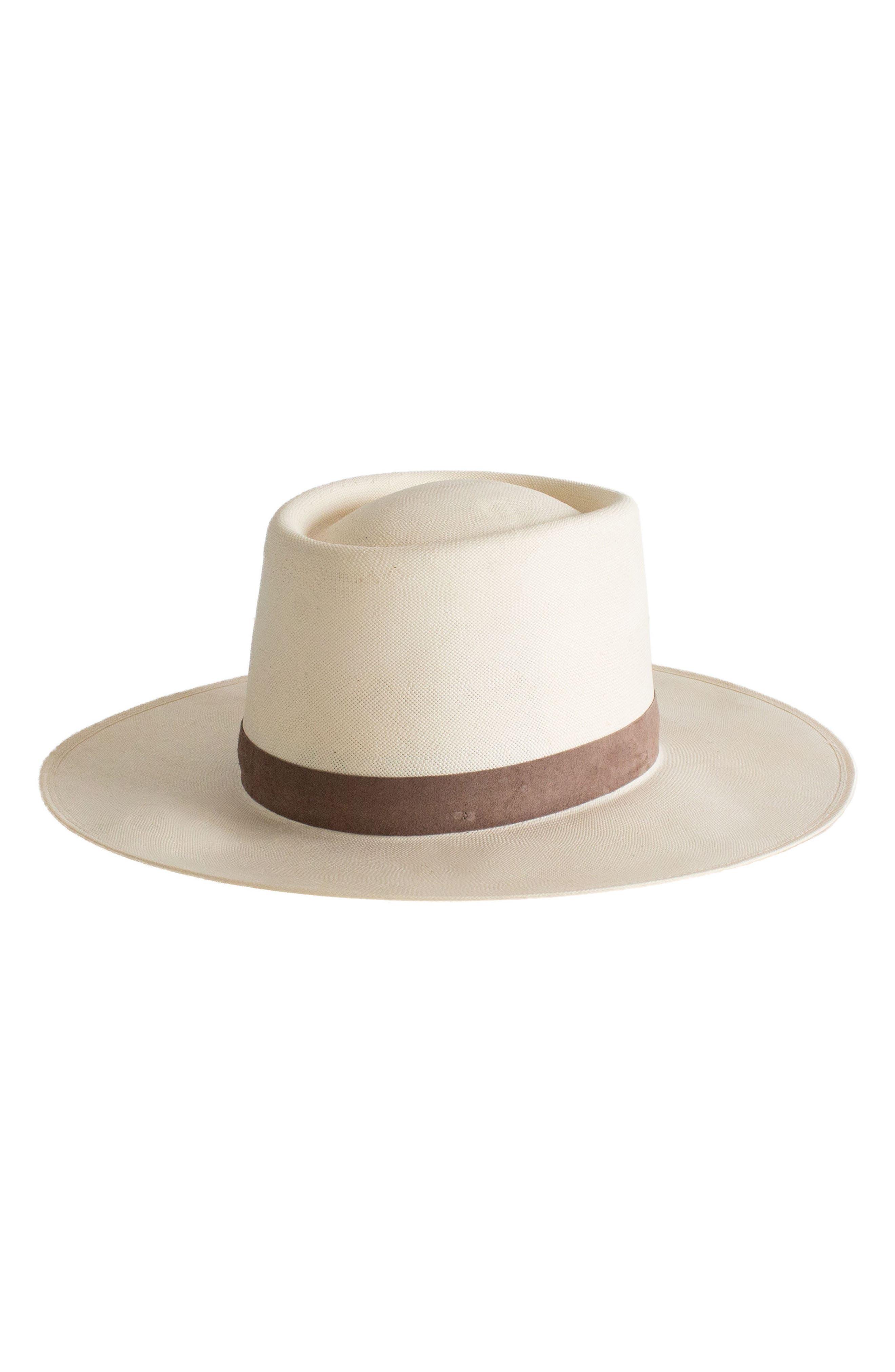 Shea Straw Hat,                             Main thumbnail 1, color,                             Ivory