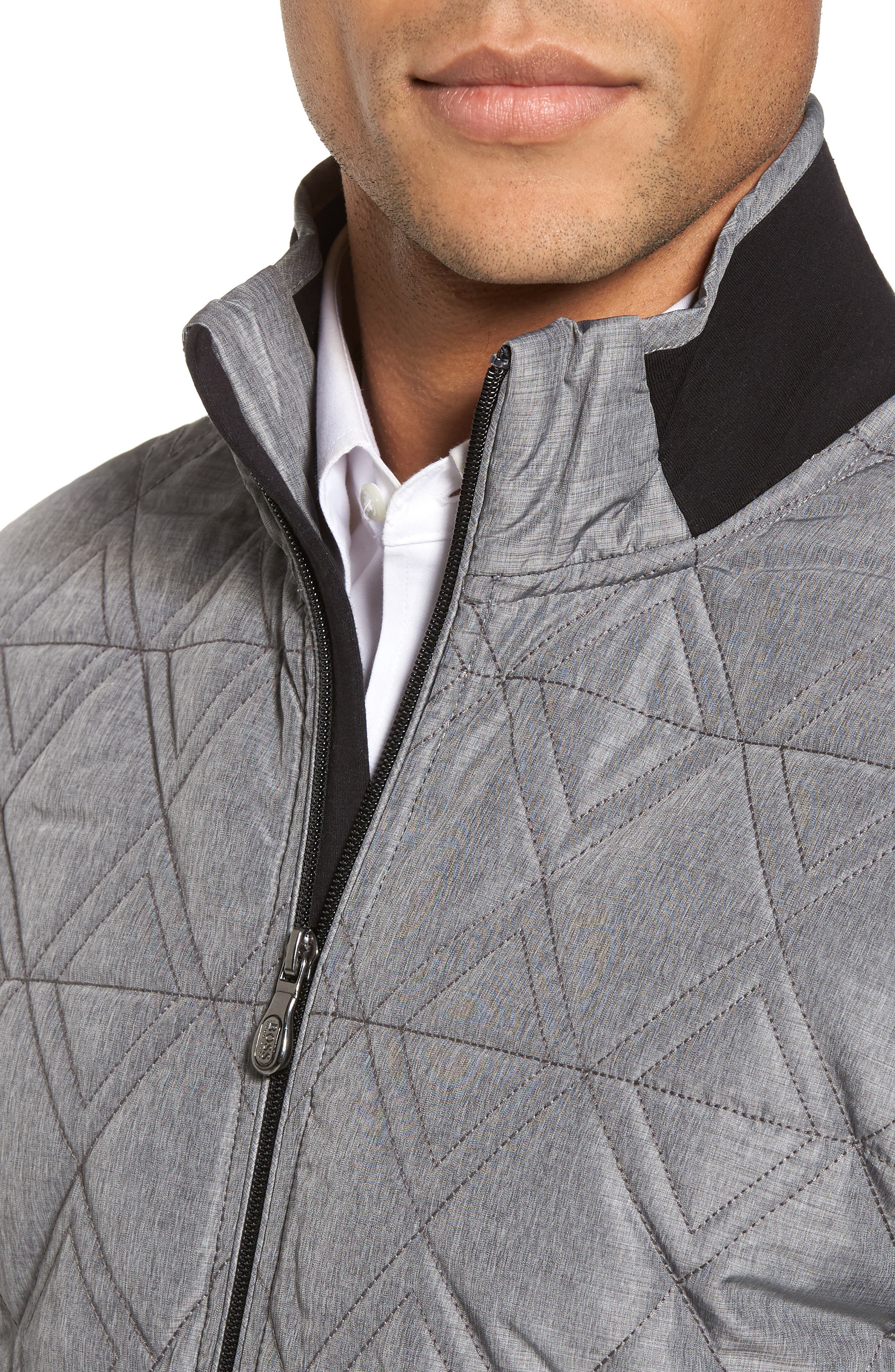 C-Pizzoli Quilted Jacket,                             Alternate thumbnail 4, color,                             Black
