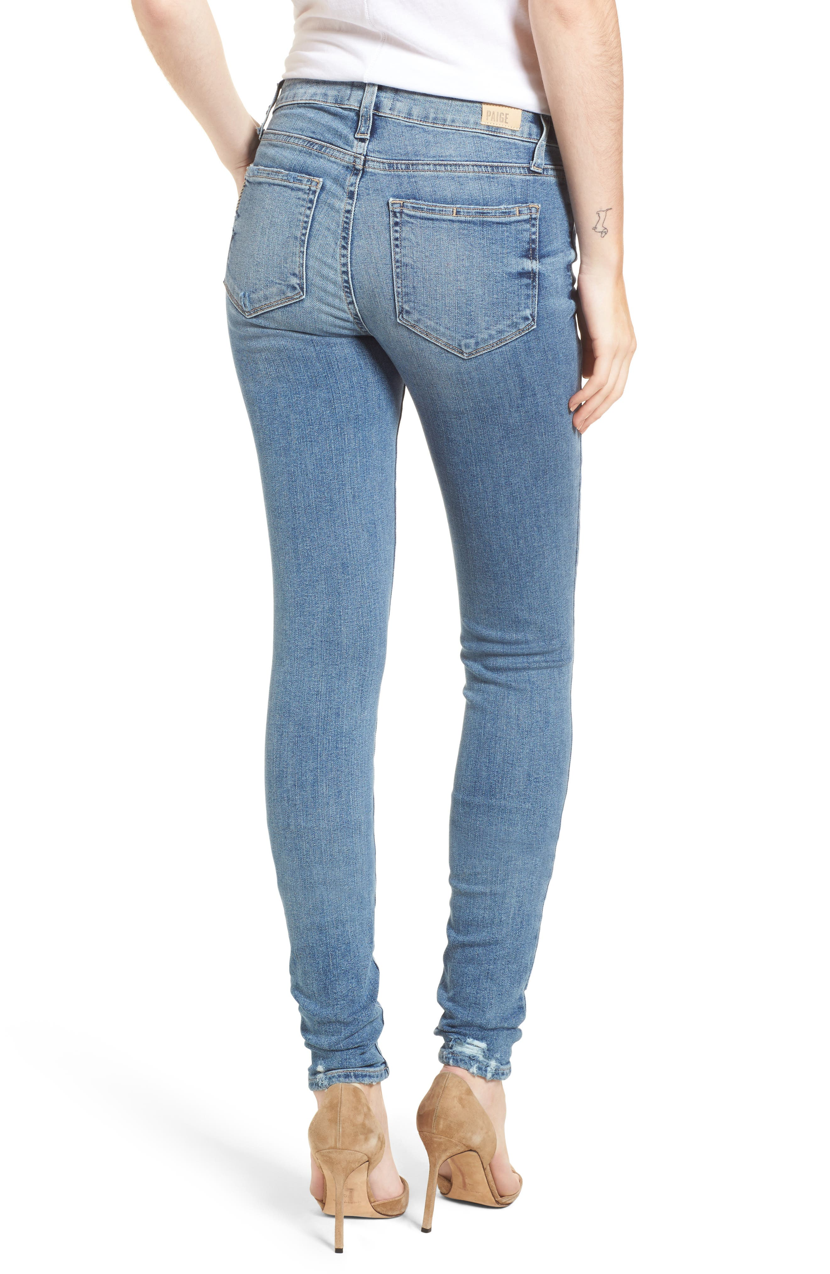 Transcend Vintage - Leggy Ultra Skinny Jeans,                             Alternate thumbnail 2, color,                             Rissy