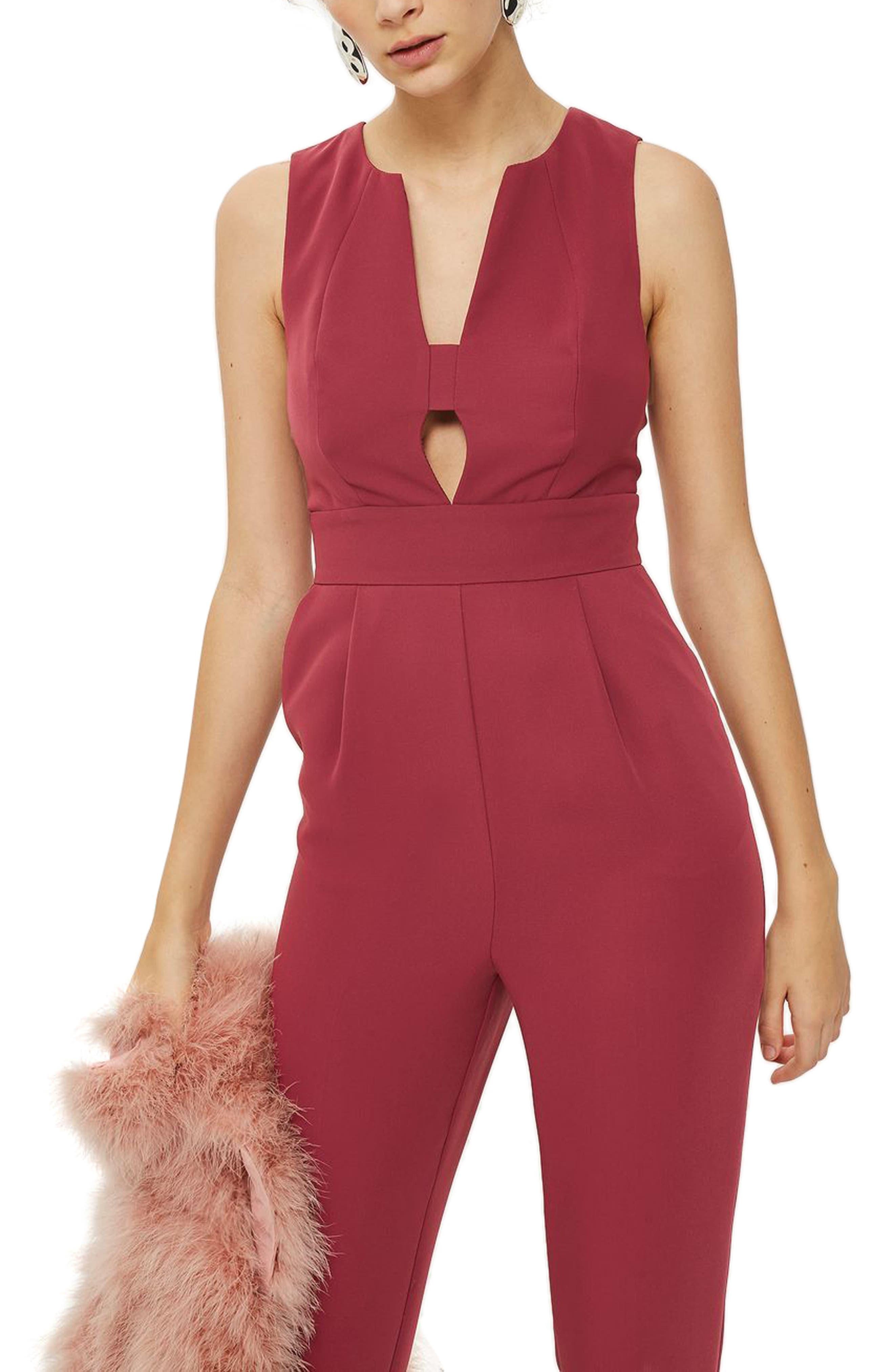 Alternate Image 3  - Topshop Amber Open Front Jumpsuit