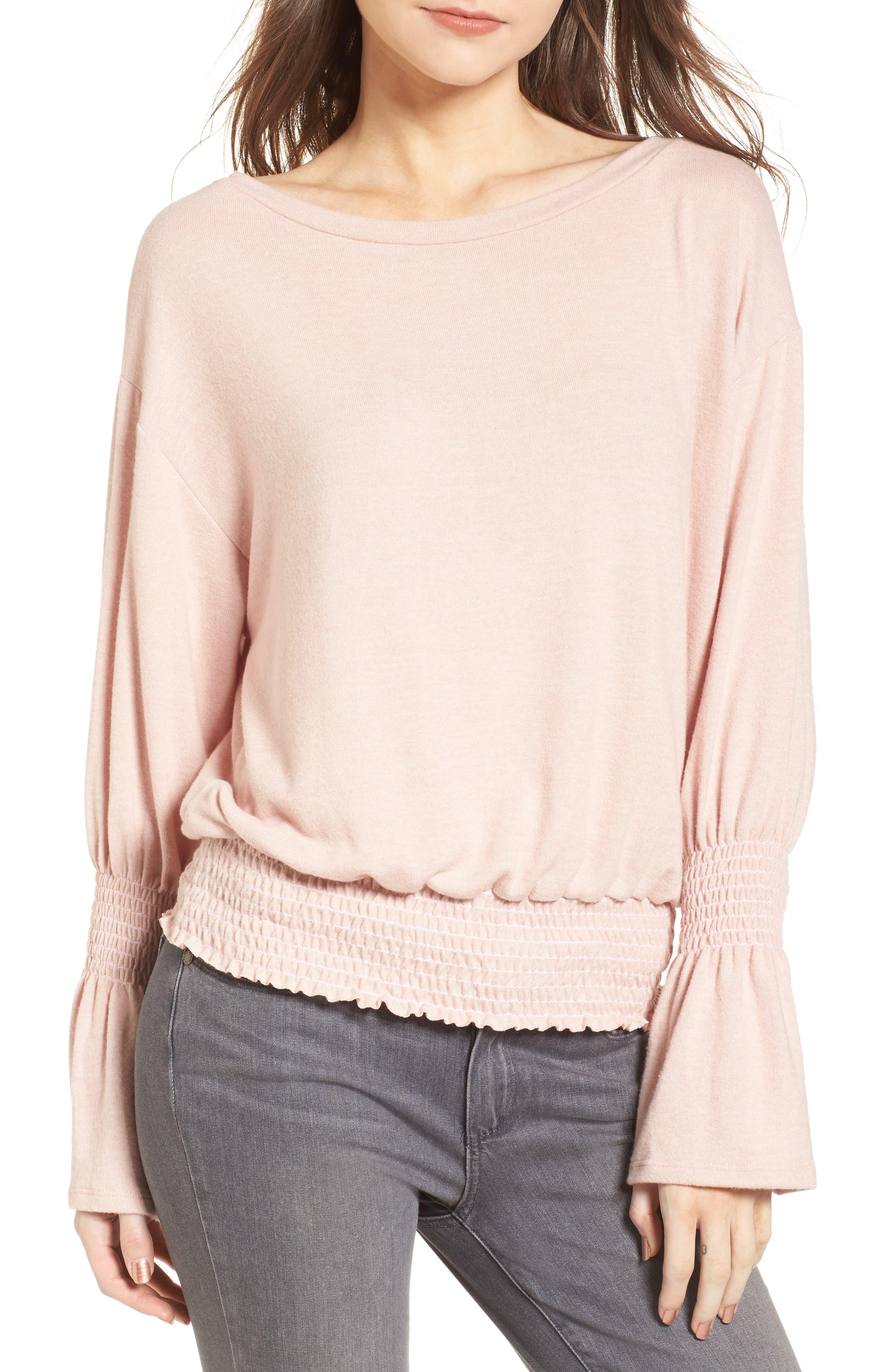 Hinge Brushed Smocked Sweatshirt