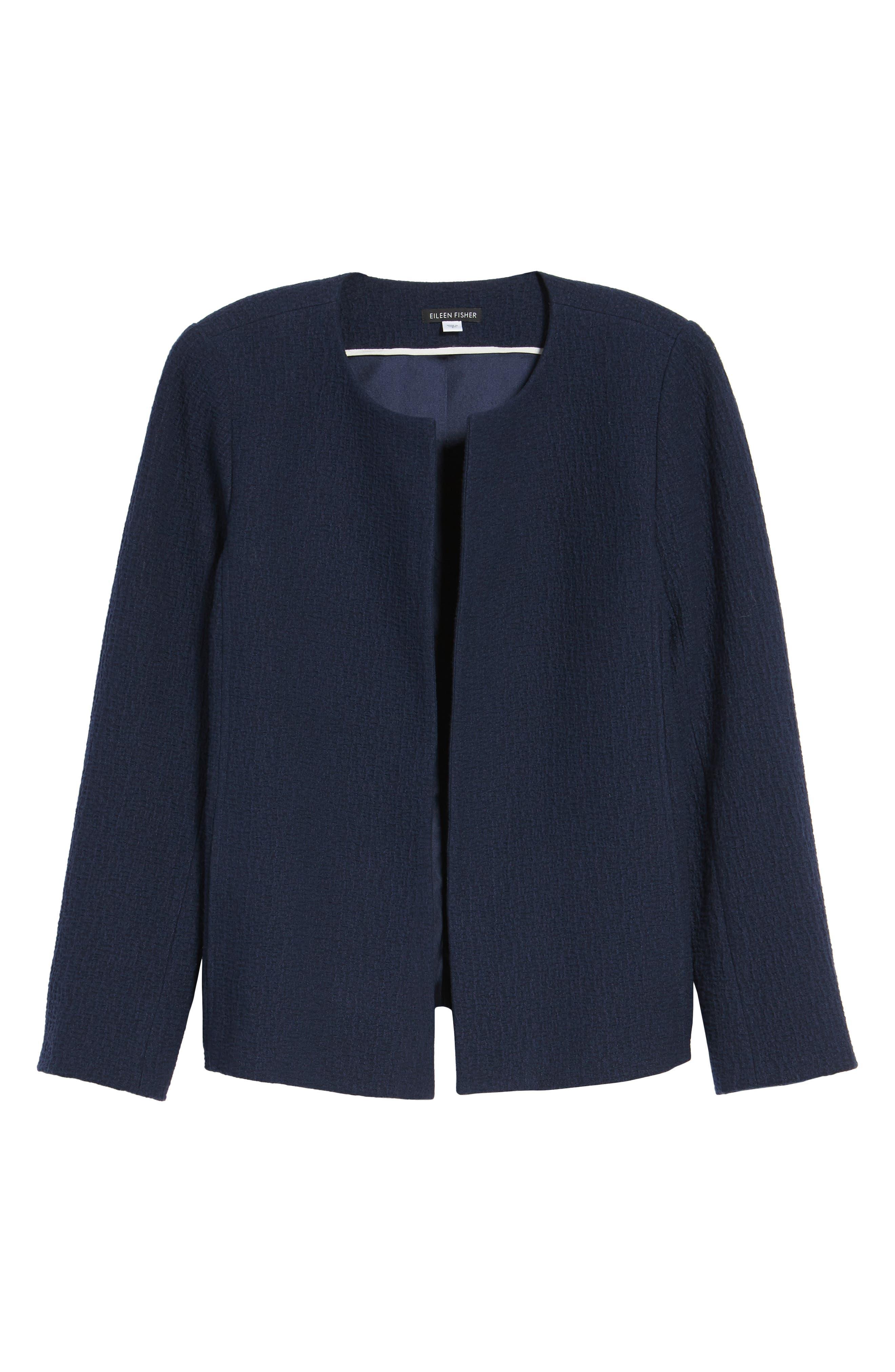 Alternate Image 6  - Eileen Fisher Open Front Round Neck Jacket