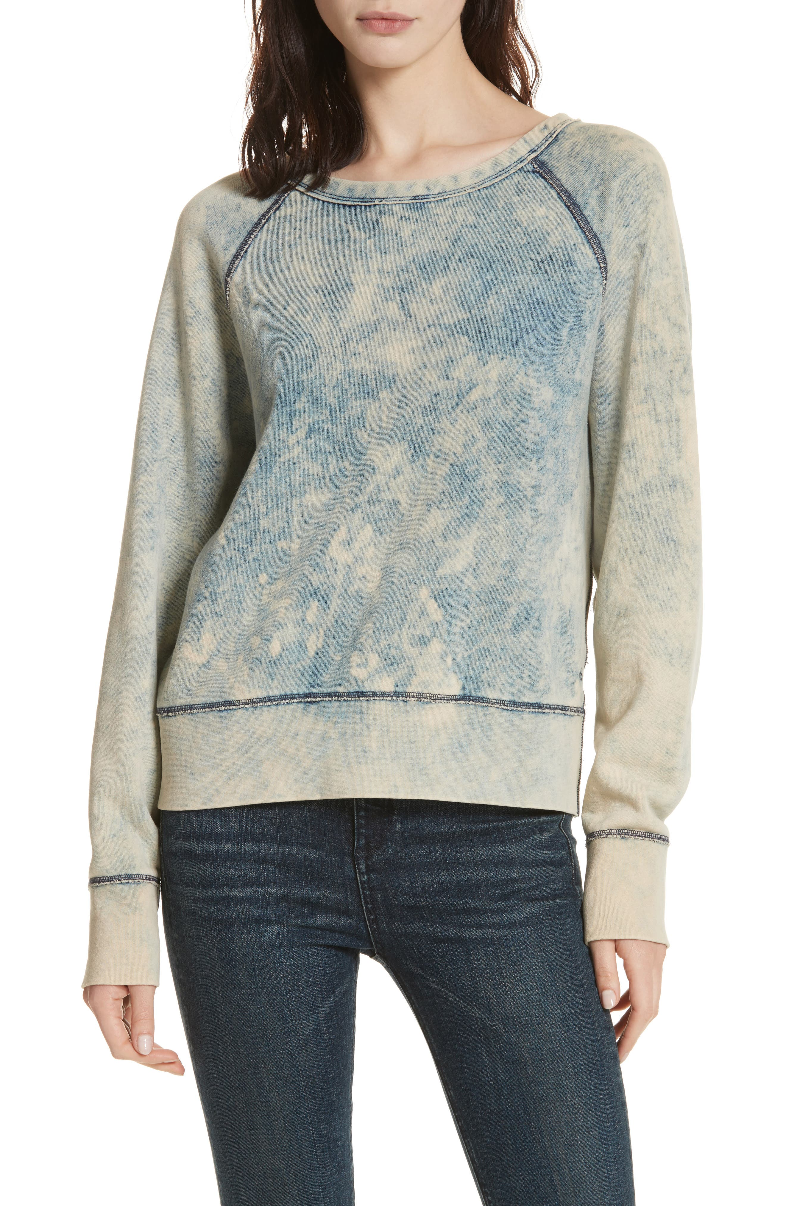Classic Pullover,                         Main,                         color, Bleach Out