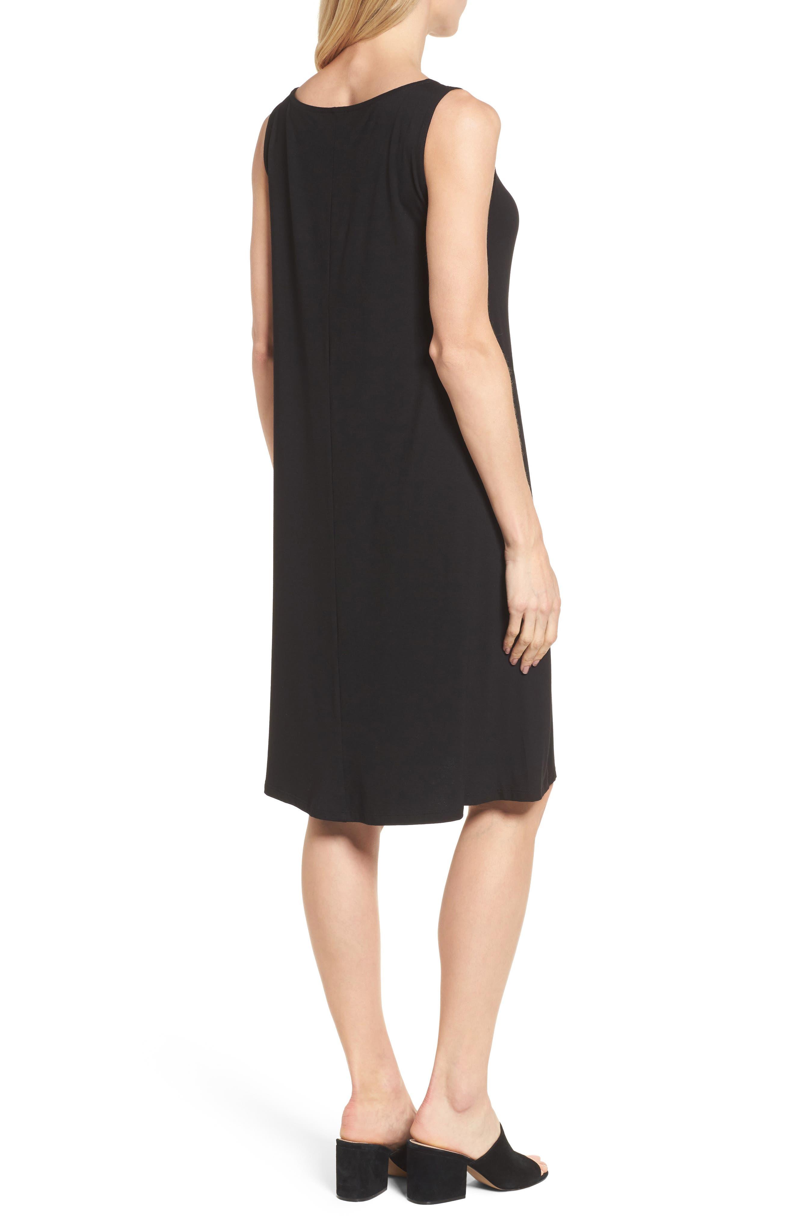 Jersey Shift Dress,                             Alternate thumbnail 2, color,                             Black