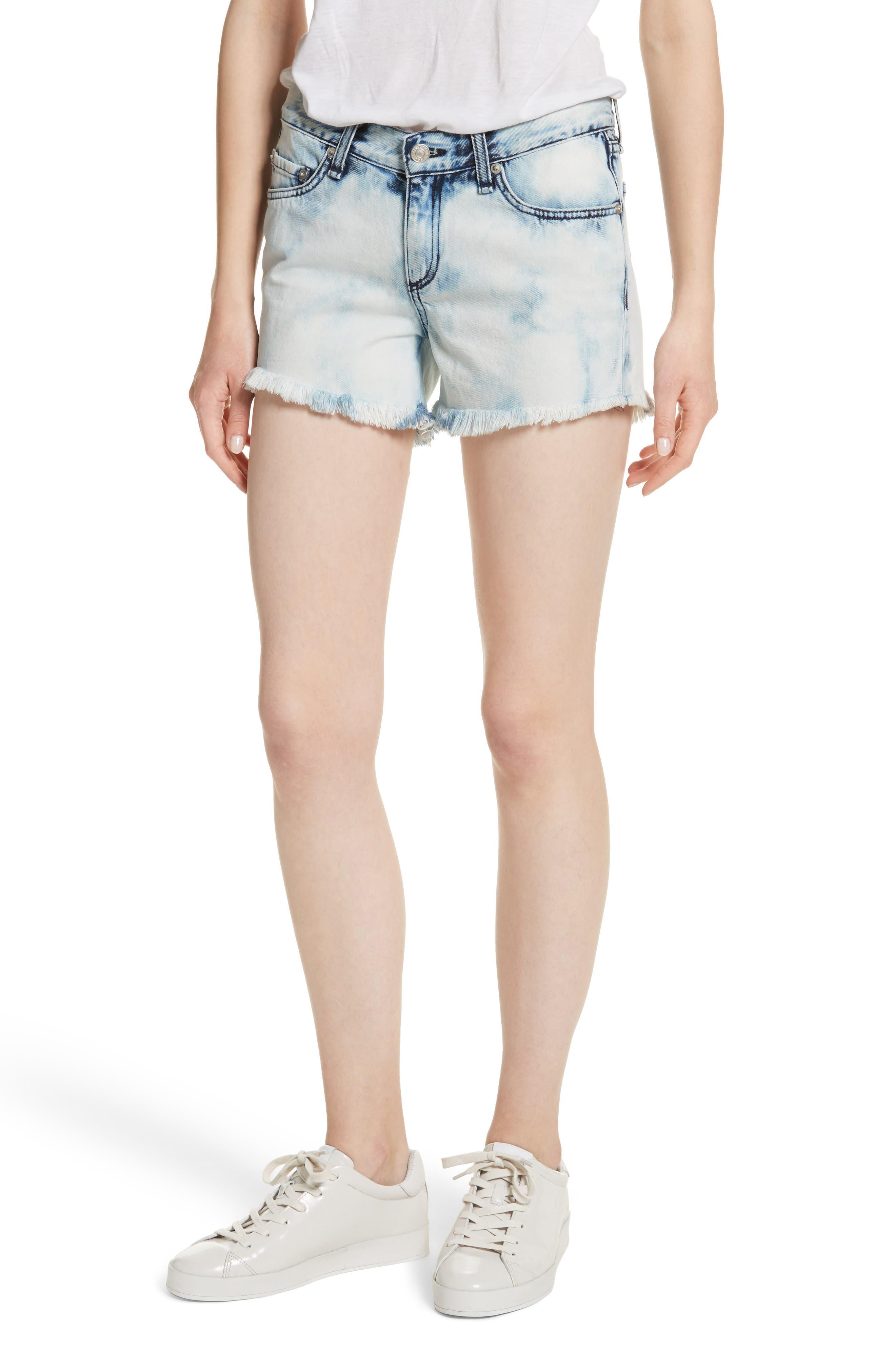 Main Image - rag & bone/JEAN Cutoff Denim Shorts (Bleach)