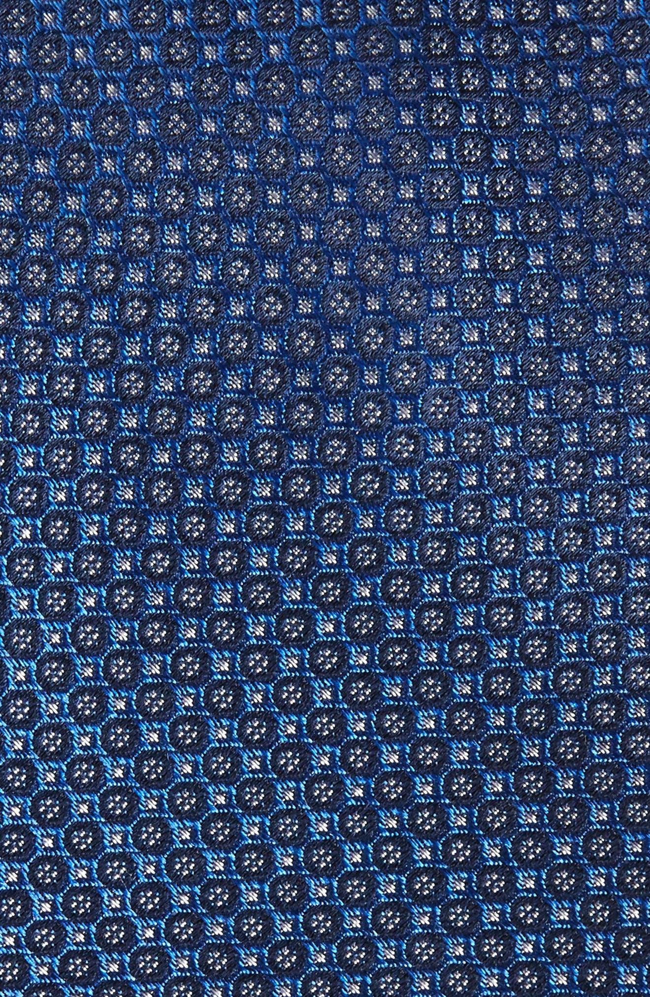 Park Ave Solid Silk Tie,                             Alternate thumbnail 2, color,                             Sapphire
