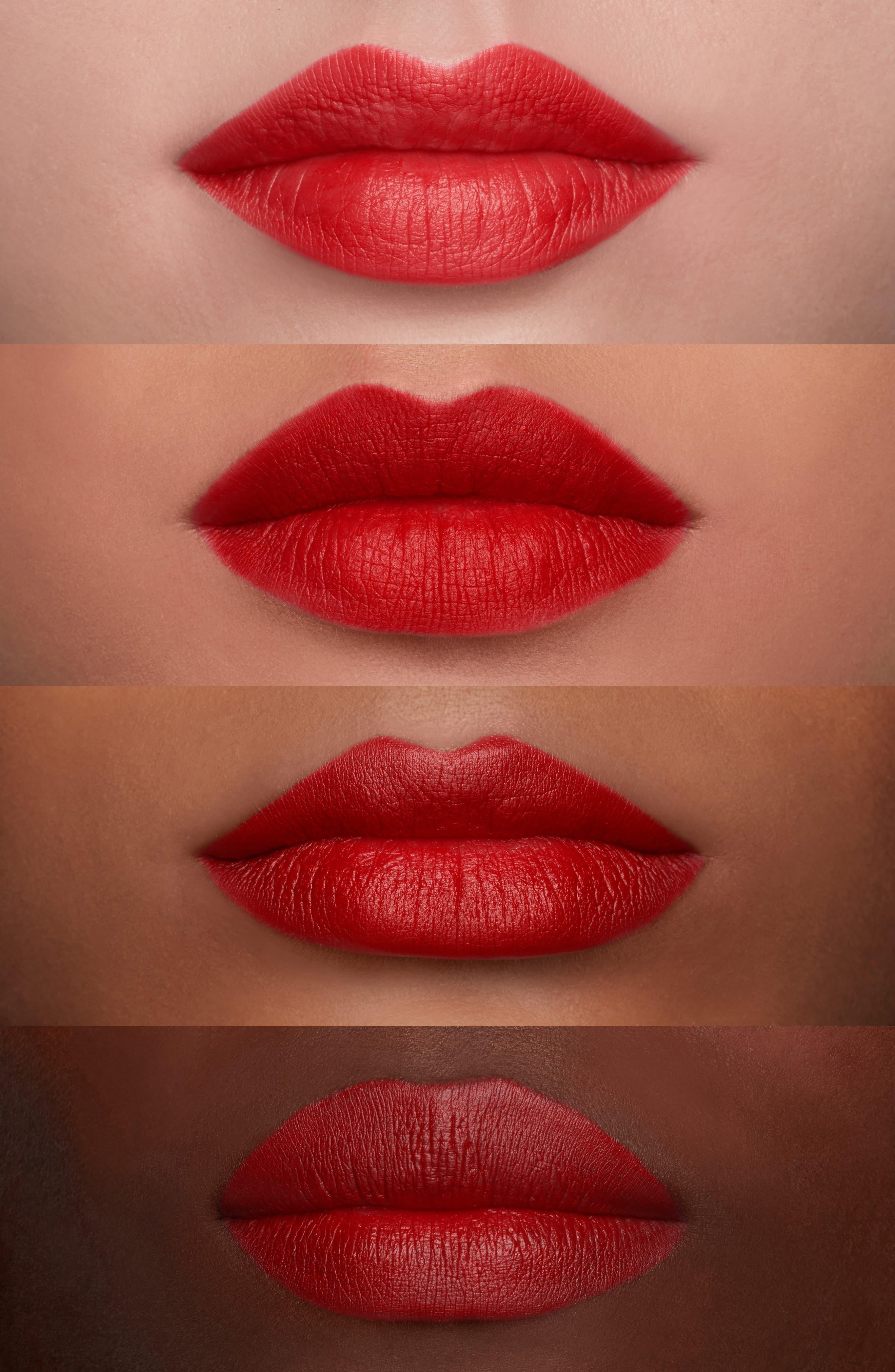 MAC Snow Ball Red Lip Bag,                             Alternate thumbnail 5, color,                             Red