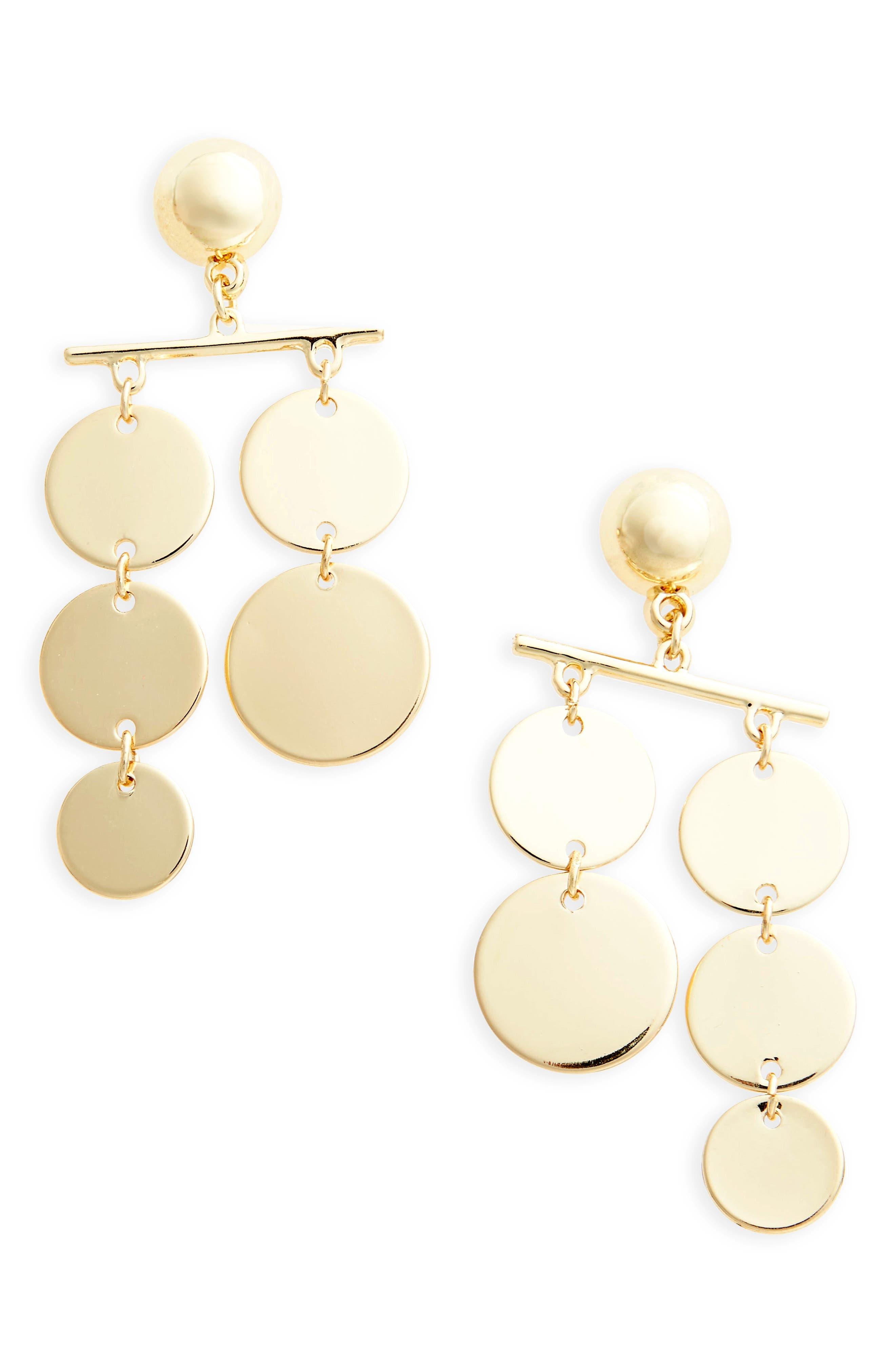 Alternate Image 1 Selected - Topshop Circle Mobile Earrings