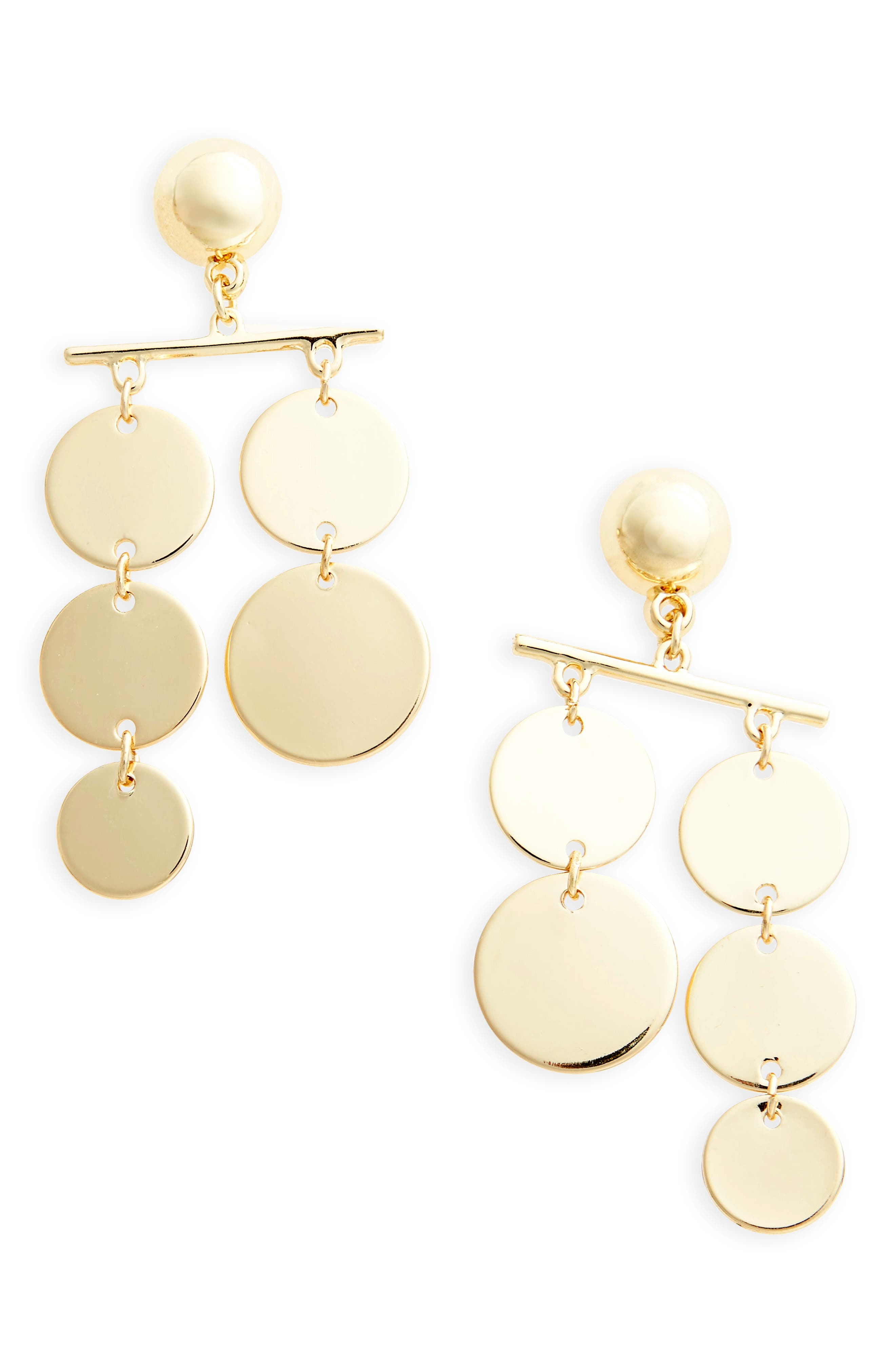 Circle Mobile Earrings,                         Main,                         color, Gold