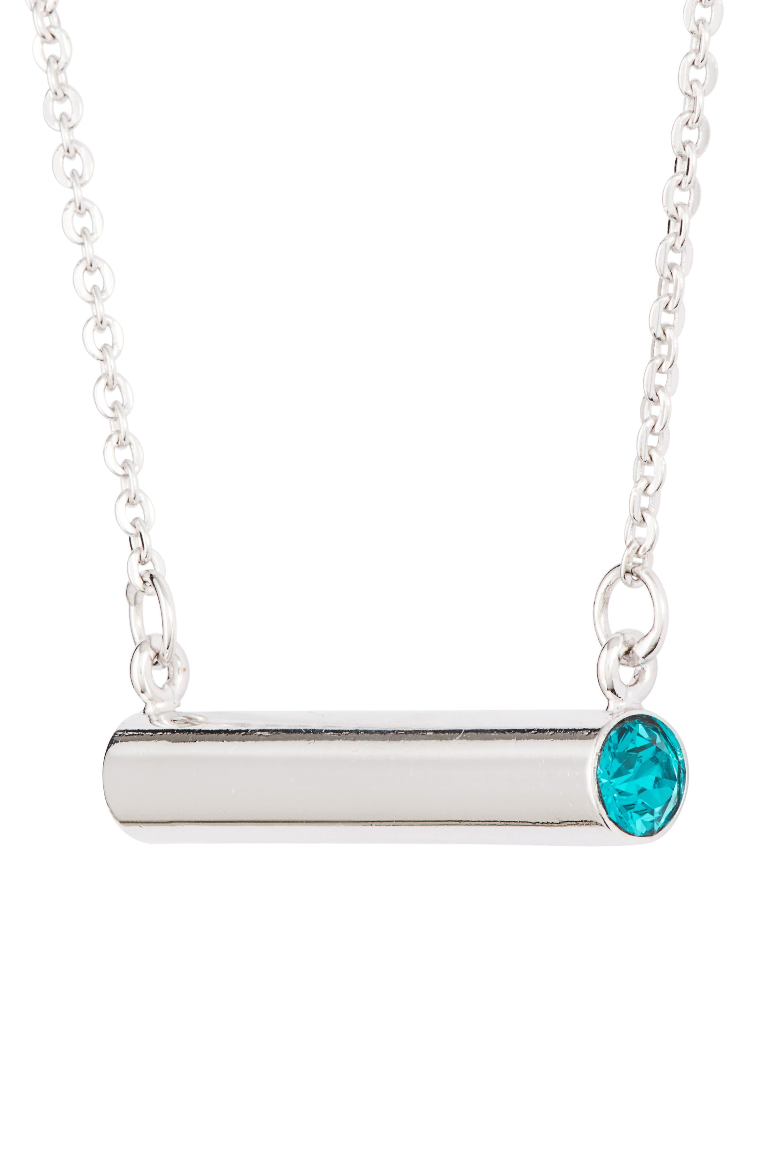 Alternate Image 3  - Stella Vale December Crystal Bar Pendant Necklace