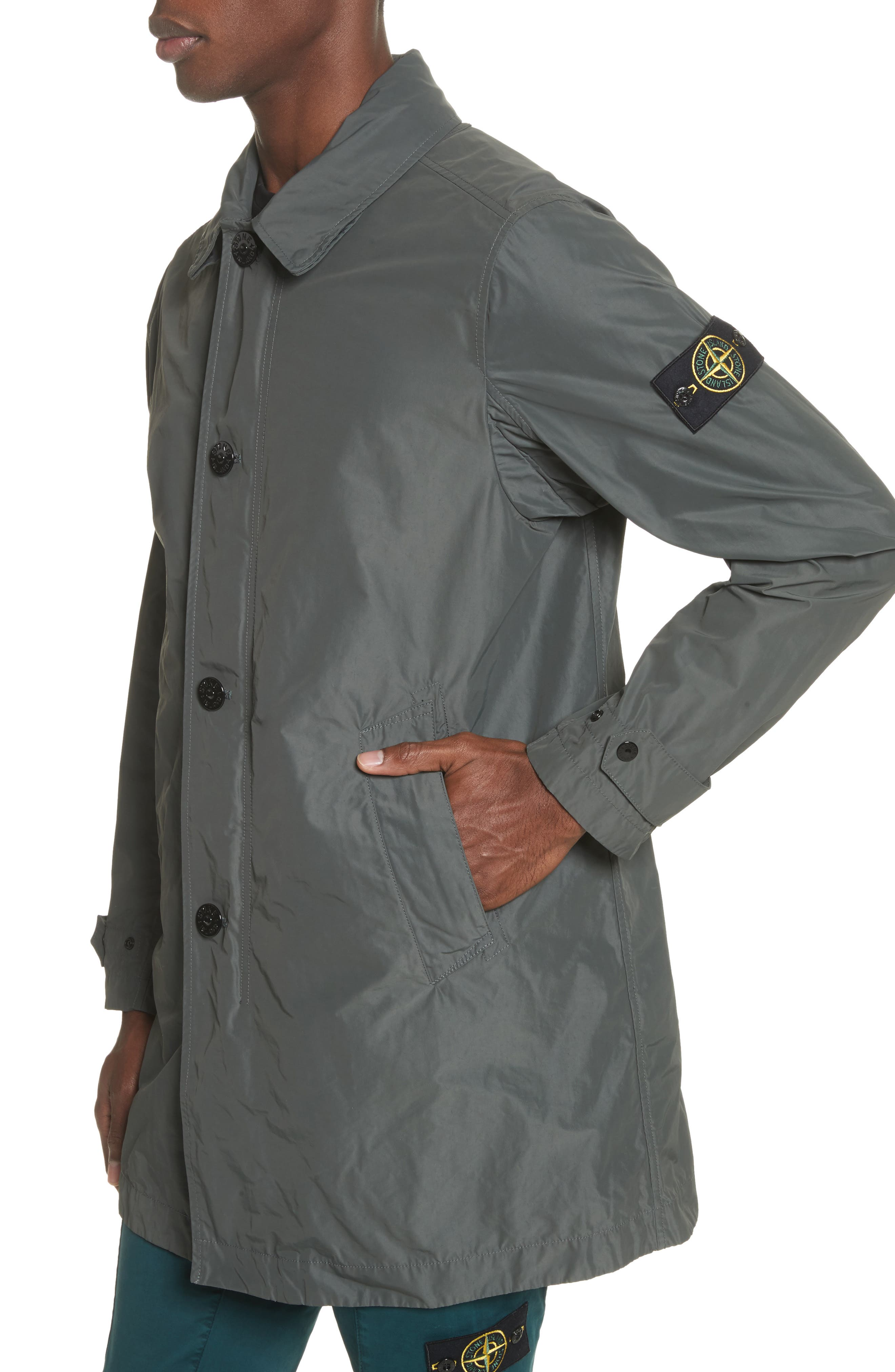 Trench Coat,                             Alternate thumbnail 4, color,                             Grey