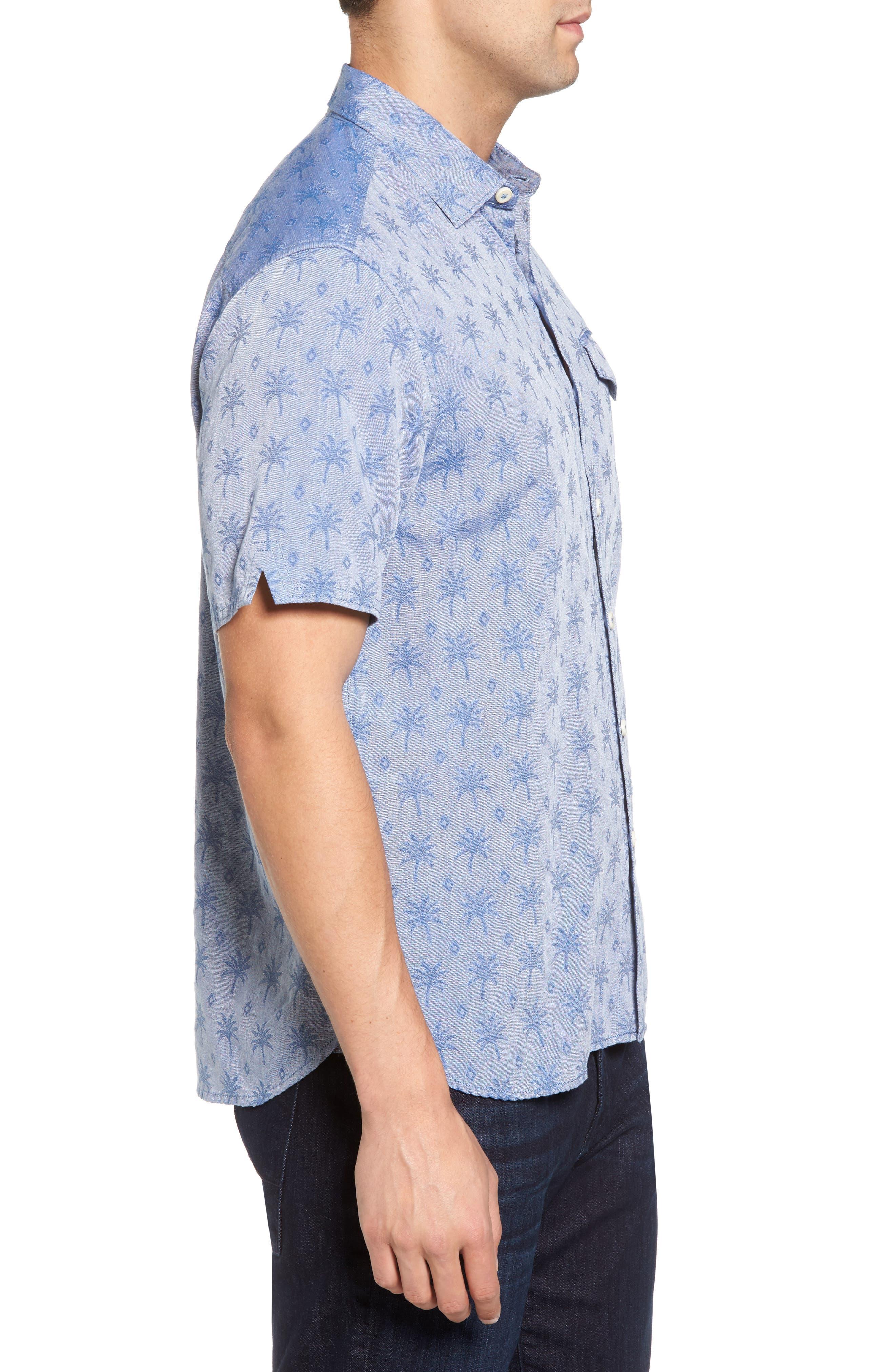 Alternate Image 3  - Tommy Bahama Palm Palm Regular Fit Jacquard Sport Shirt