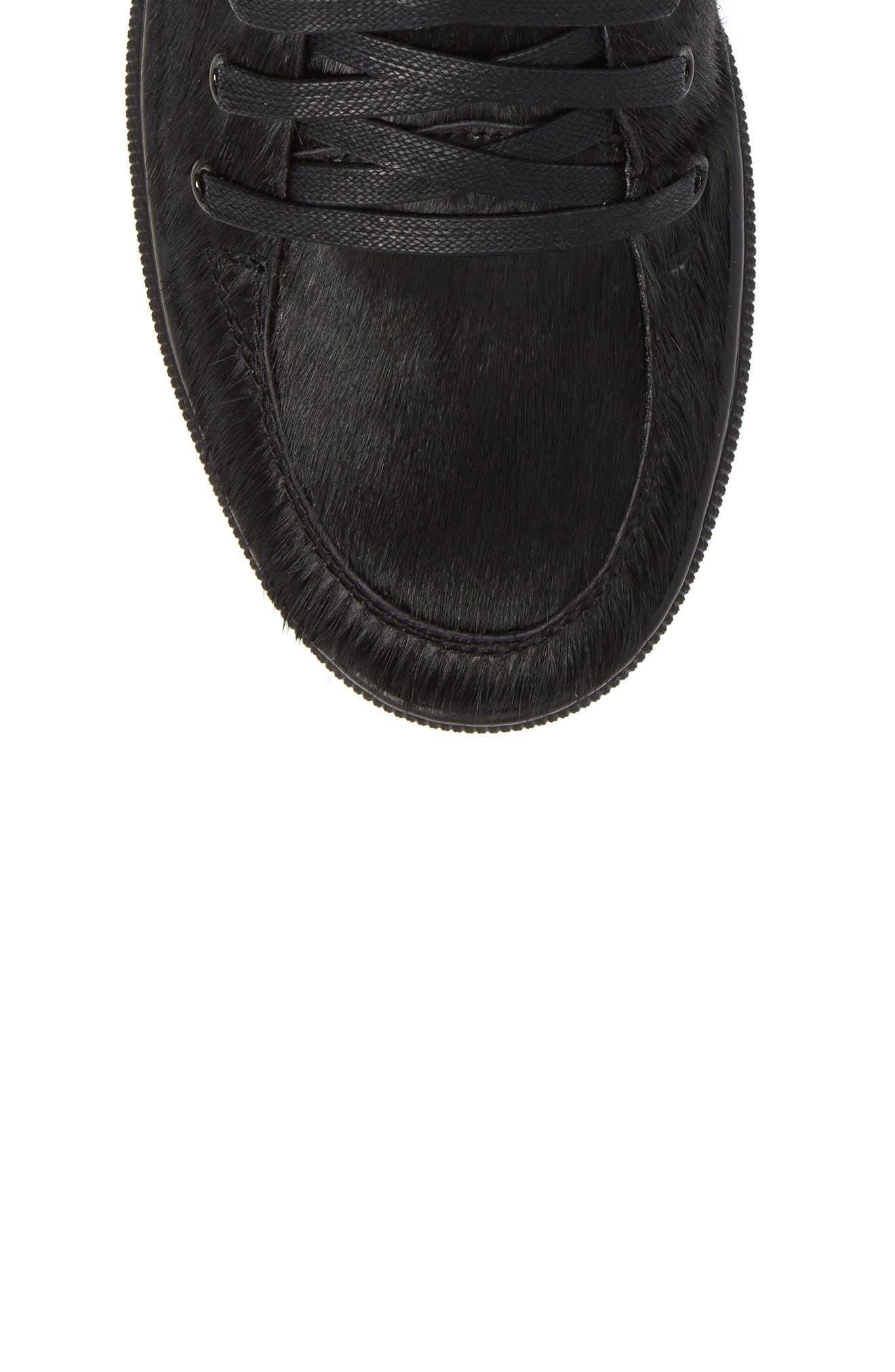 Sullivan Genuine Calf Hair High Top Sneaker,                             Alternate thumbnail 5, color,                             Black Fur Leather