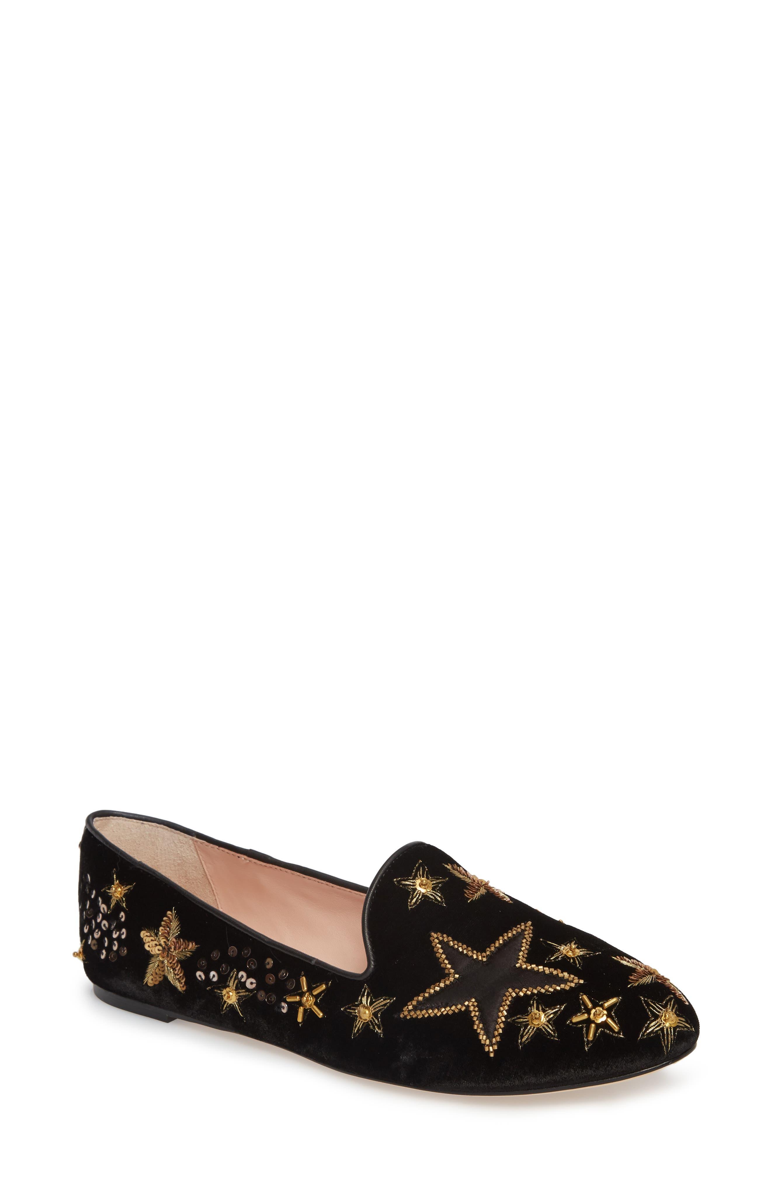 stelli embellished loafer,                         Main,                         color, Black Velvet