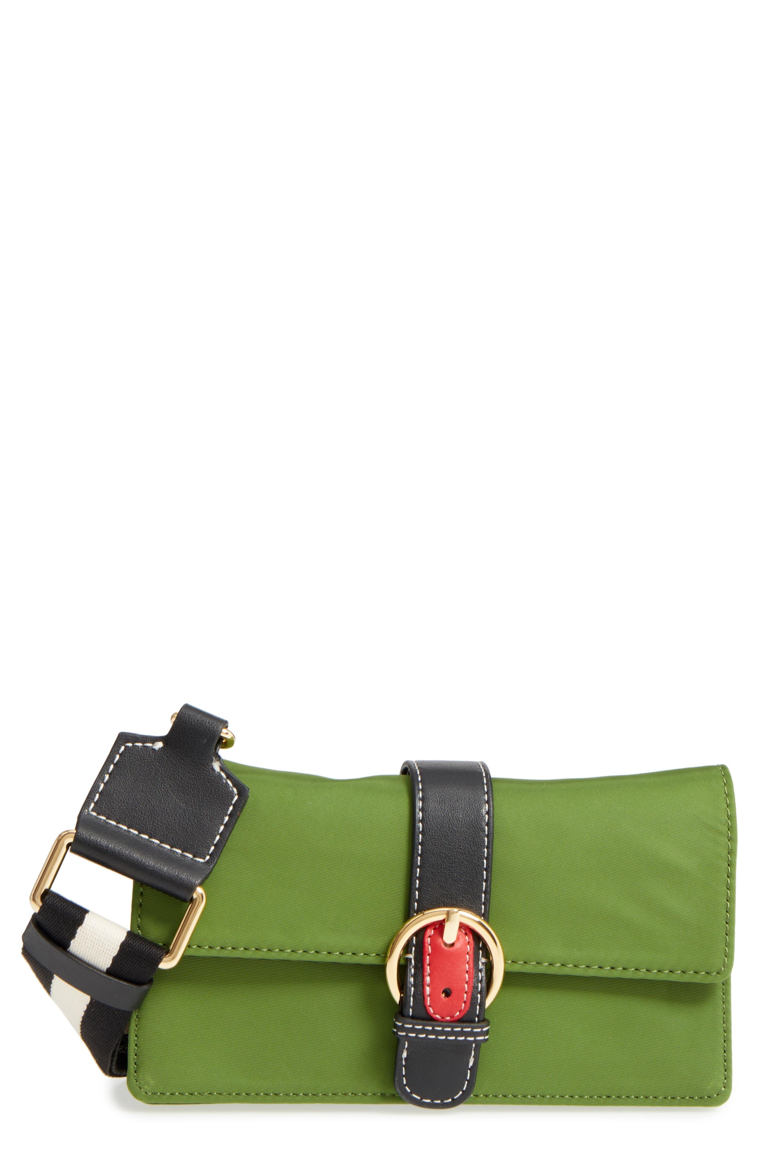 Nylon Crossbody Wallet,                         Main,                         color, Grass