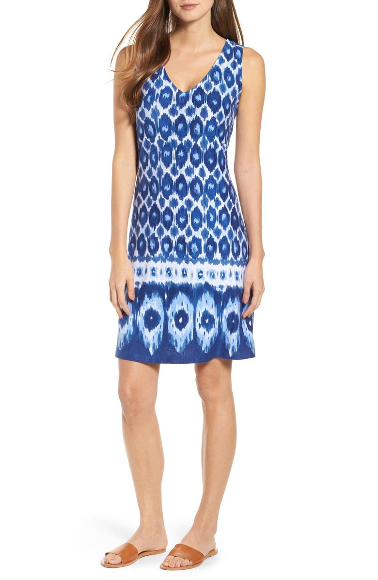 Innercoastal Ikat Sleeveless Dress