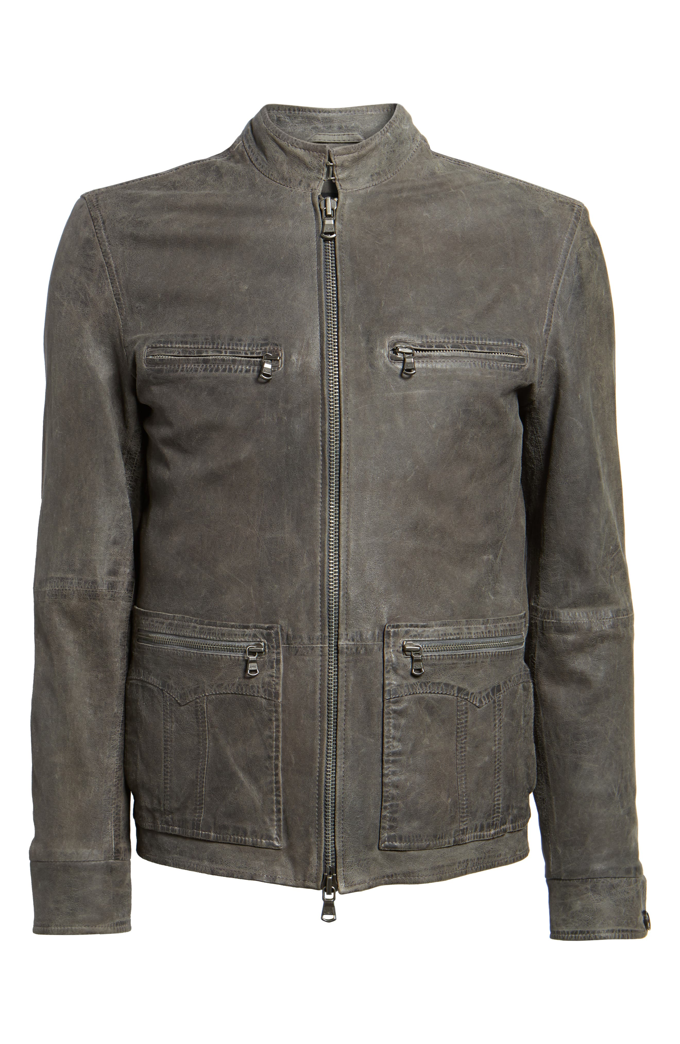 Alternate Image 10  - John Varvatos Star USA Leather Racer Jacket