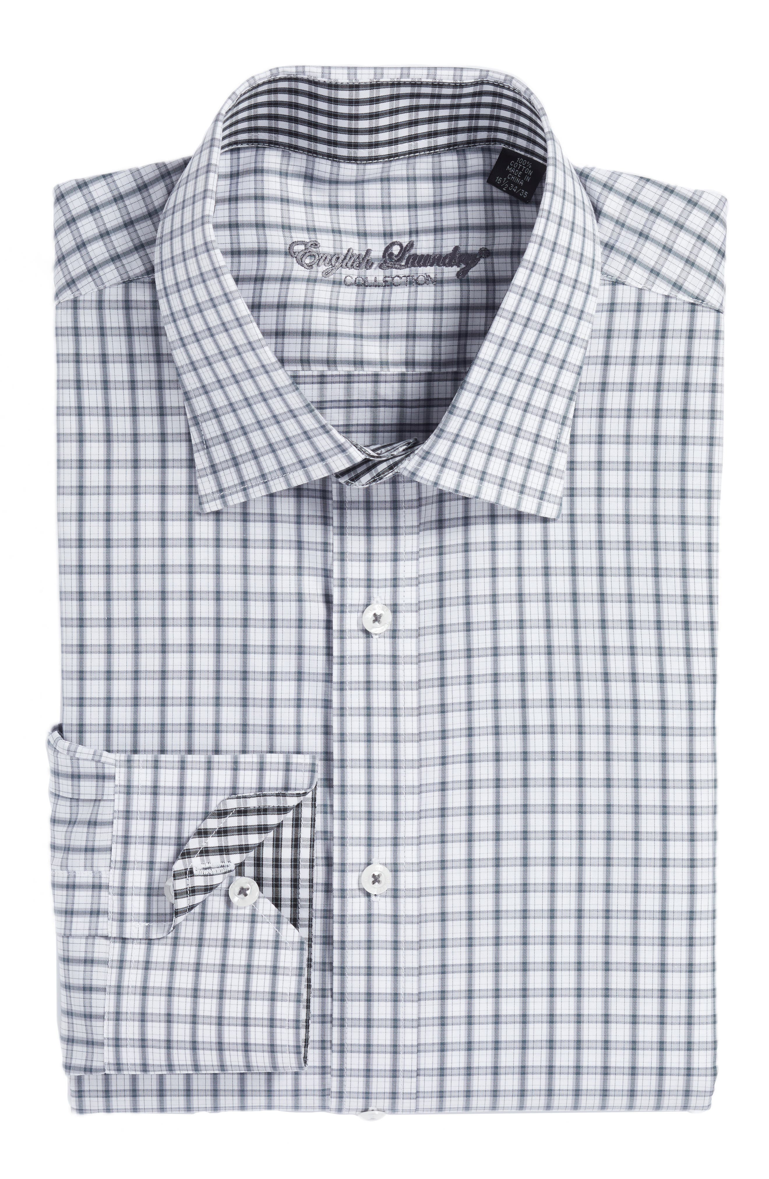 Alternate Image 1 Selected - English Laundry Trim Fit Plaid Dress Shirt