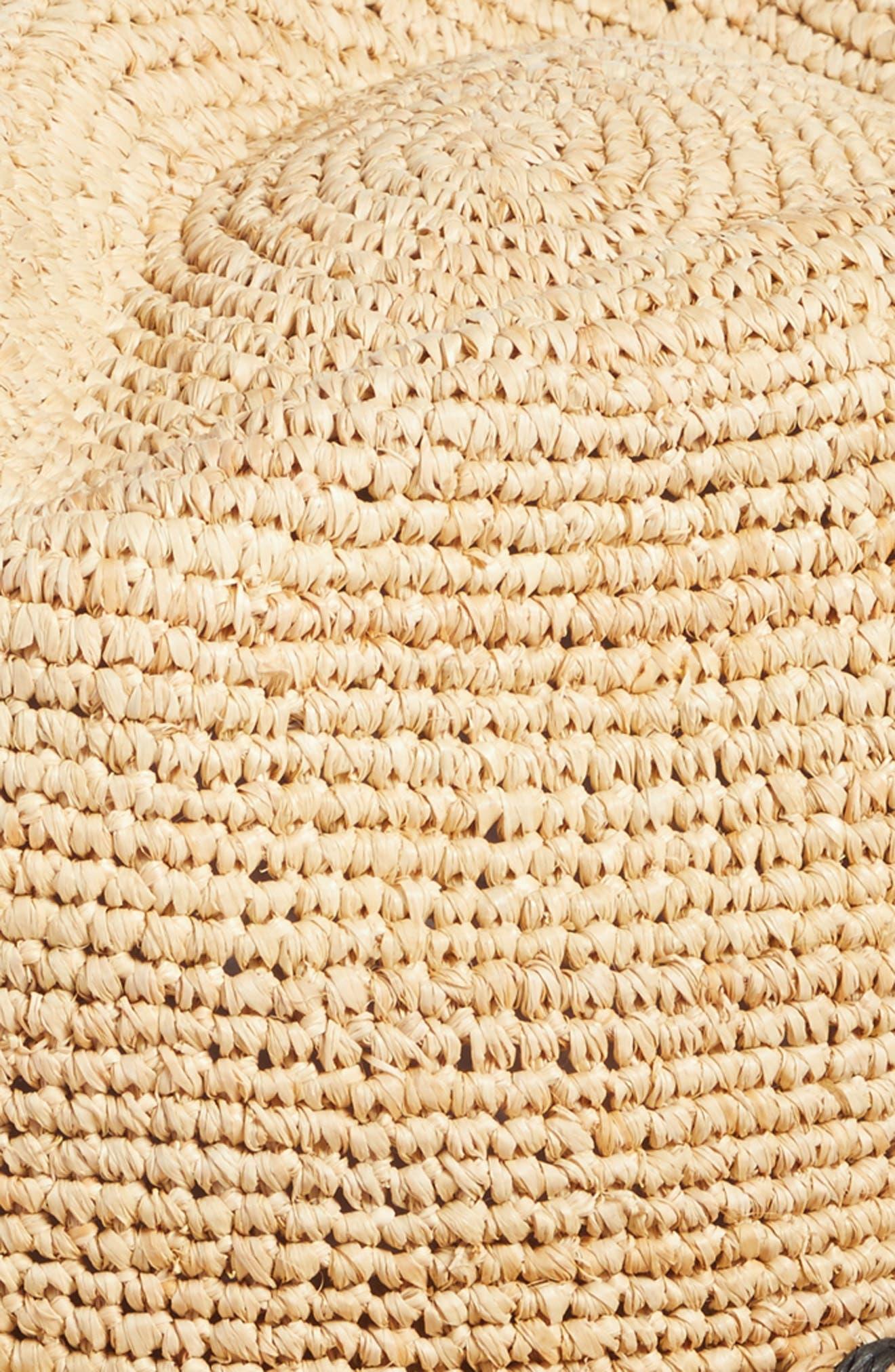 Packable Raffia Panama Hat,                             Alternate thumbnail 2, color,                             Natural