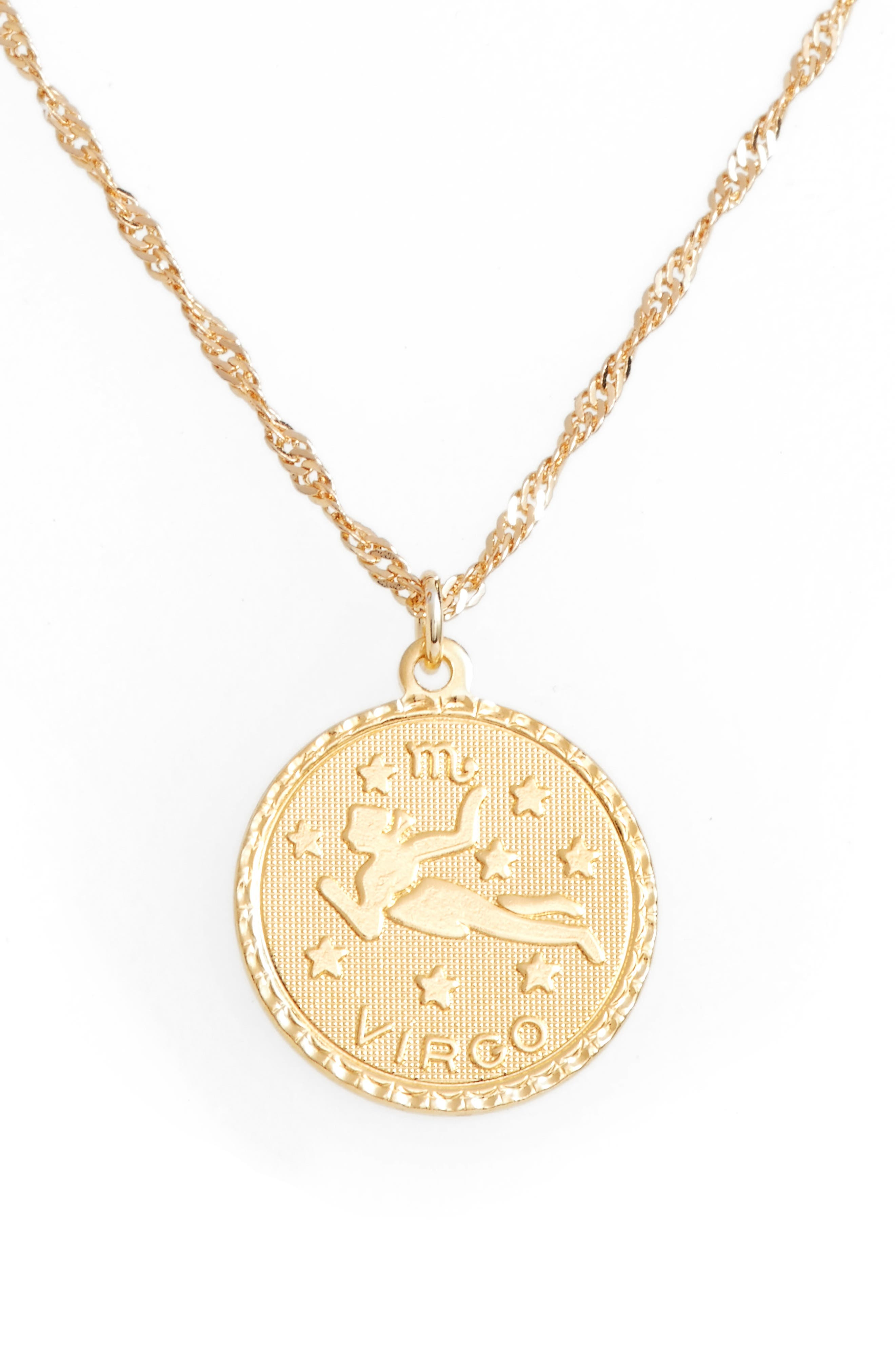 Ascending Virgo Pendant Necklace,                         Main,                         color, Yellow Gold