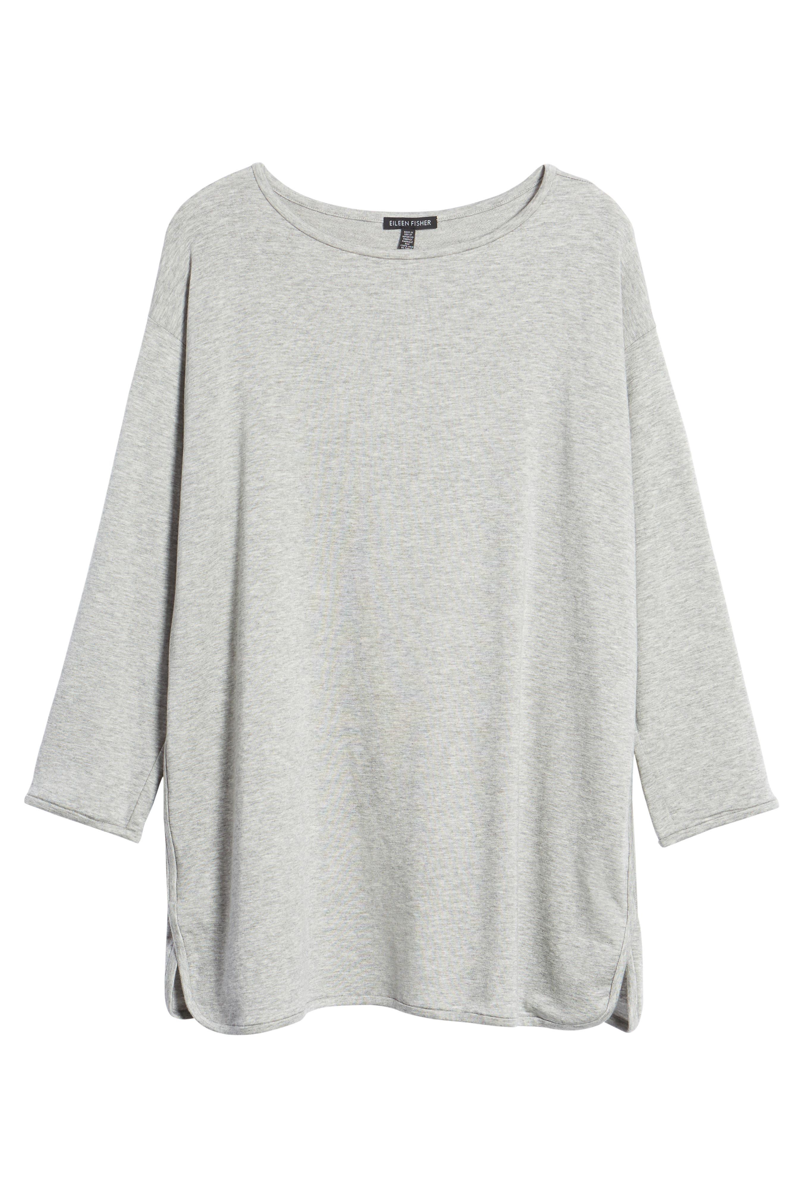 Stretch Tencel<sup>®</sup> Knit Top,                         Main,                         color, Dark Pearl