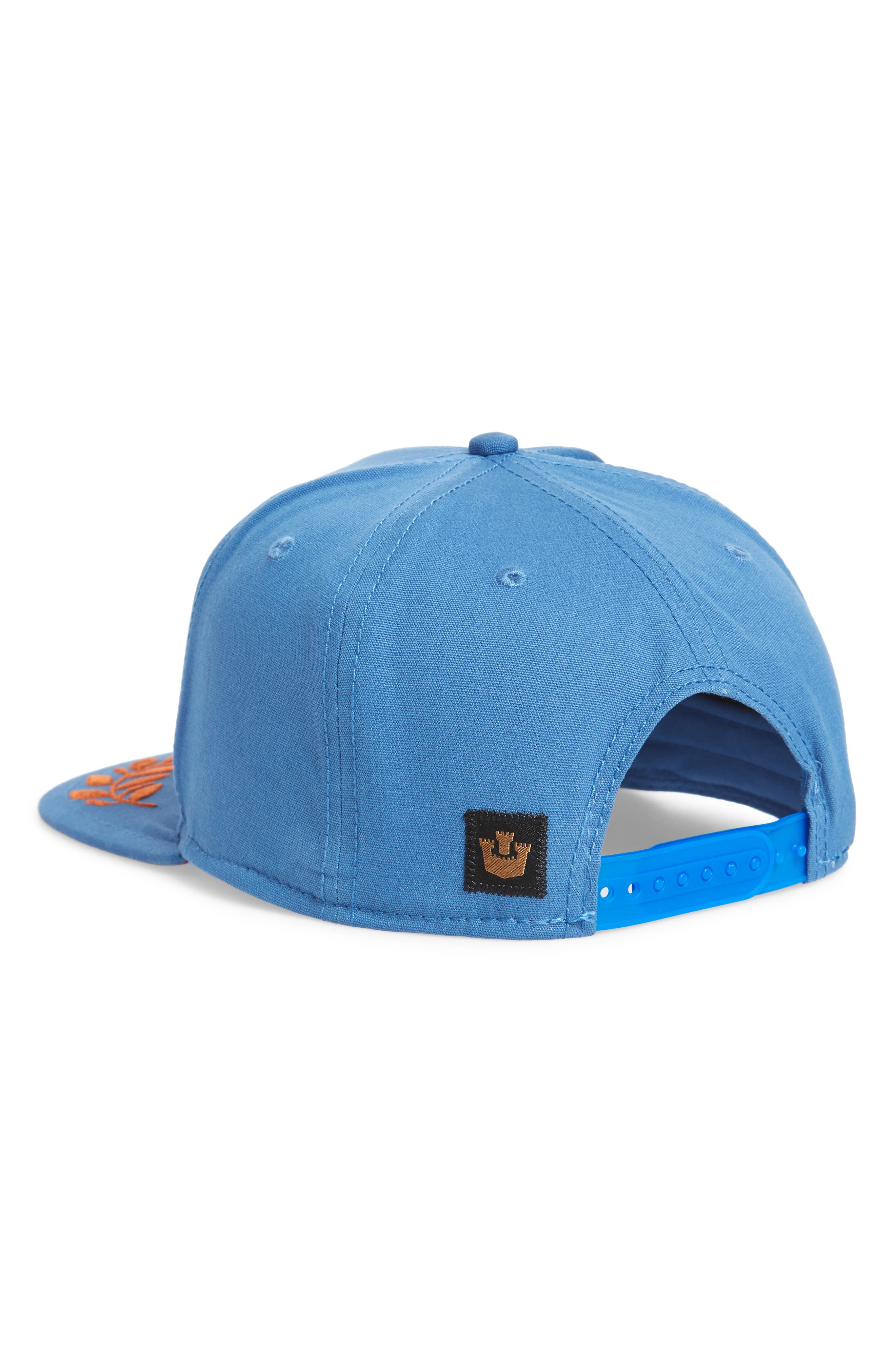 Island Bird Snapback Baseball Cap,                             Alternate thumbnail 2, color,                             Blue