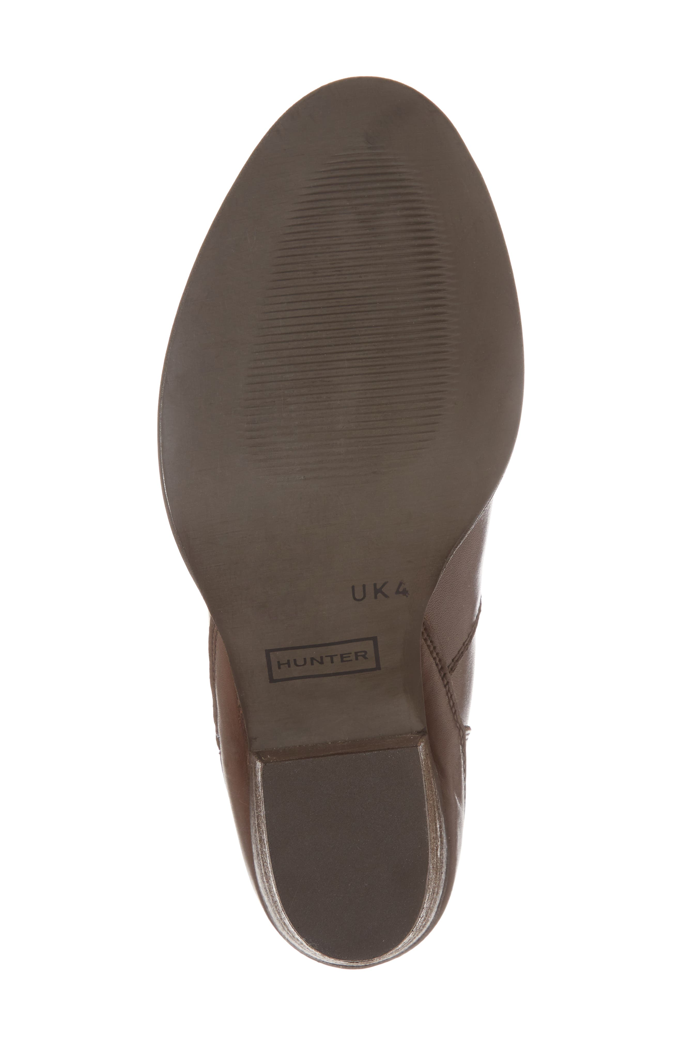 Refined Water Resistant Zip Bootie,                             Alternate thumbnail 6, color,                             Bitter Chocolate Leather