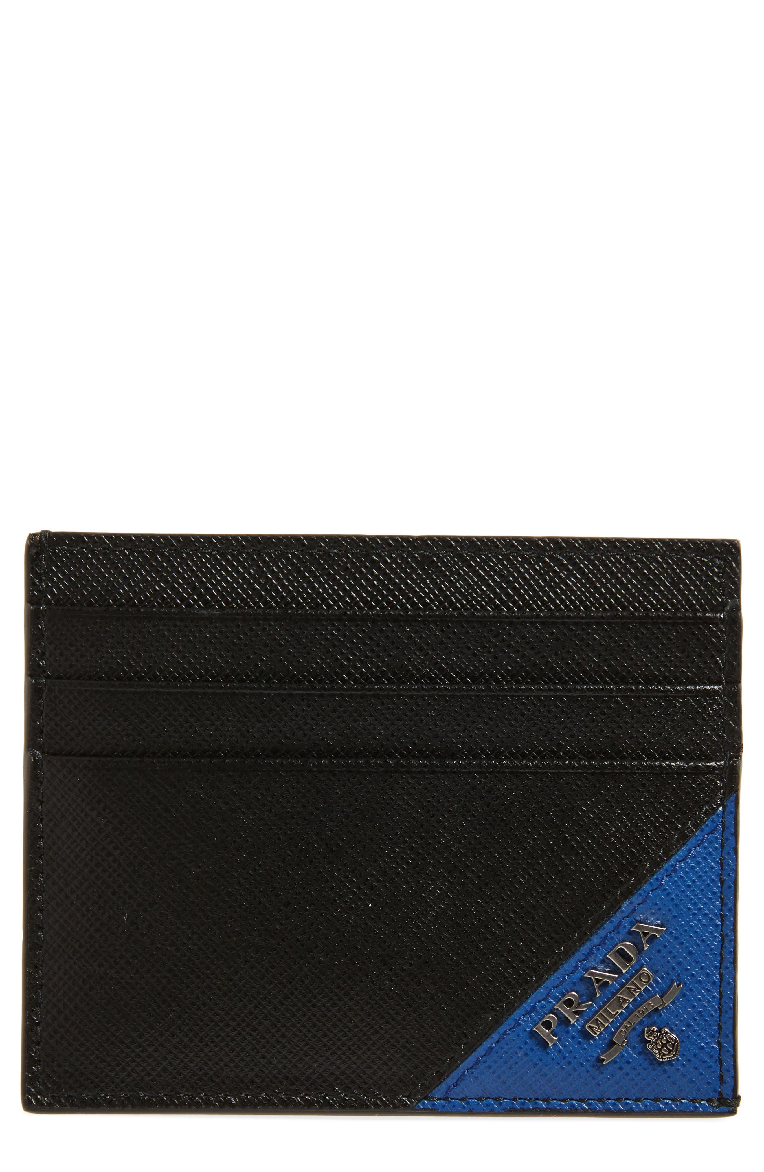 Alternate Image 1 Selected - Prada Saffiano Leather Card Case