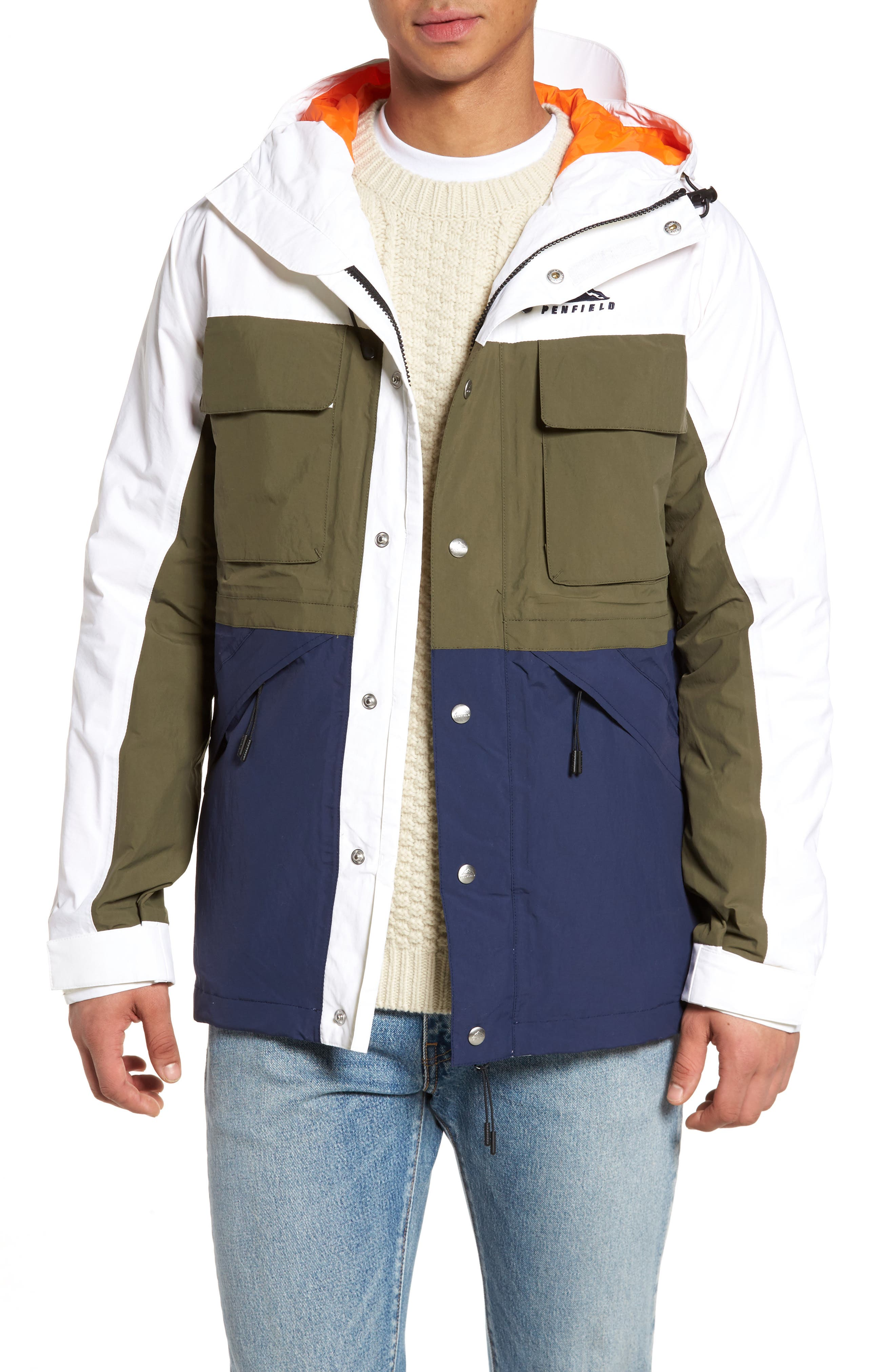 Greylock Colorblock Parka,                         Main,                         color, White
